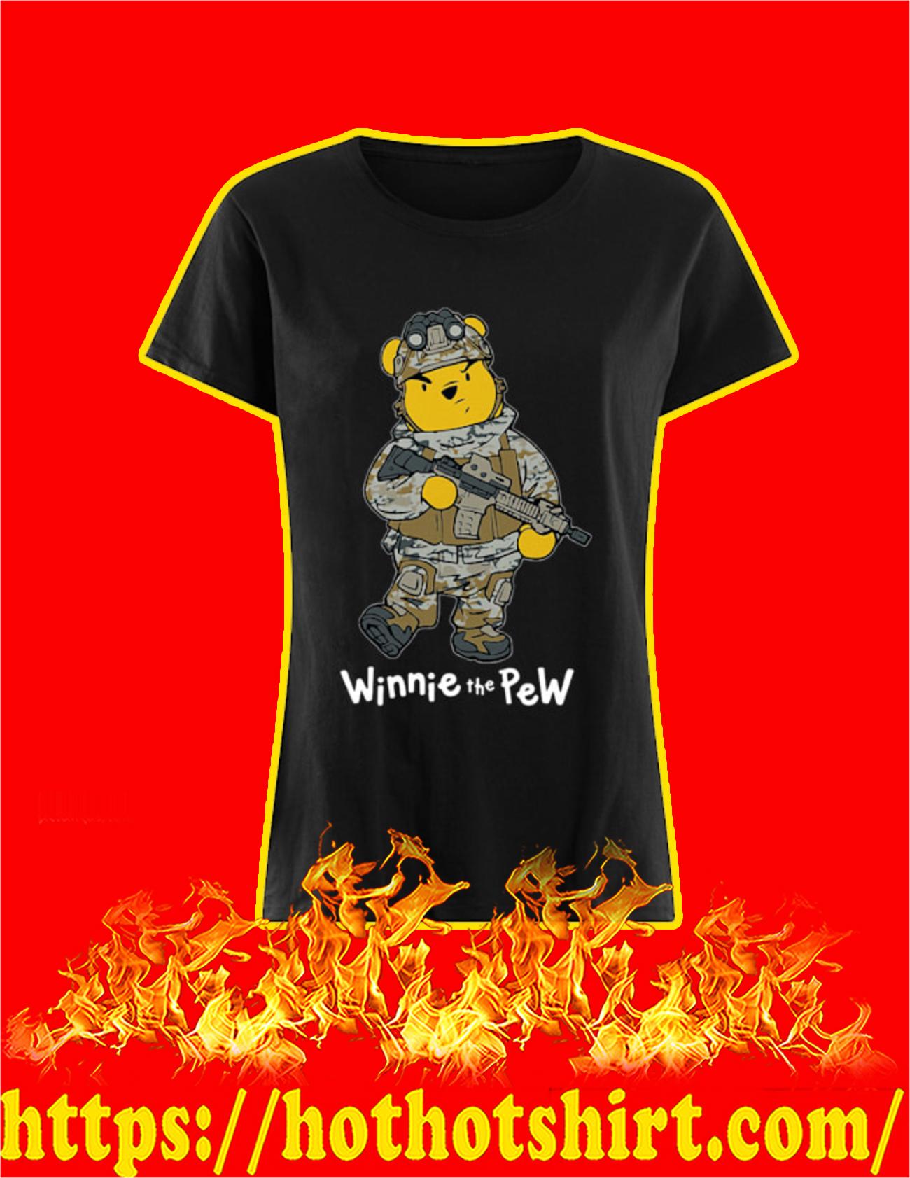 Winnie The Pew Soldier Women Shirt