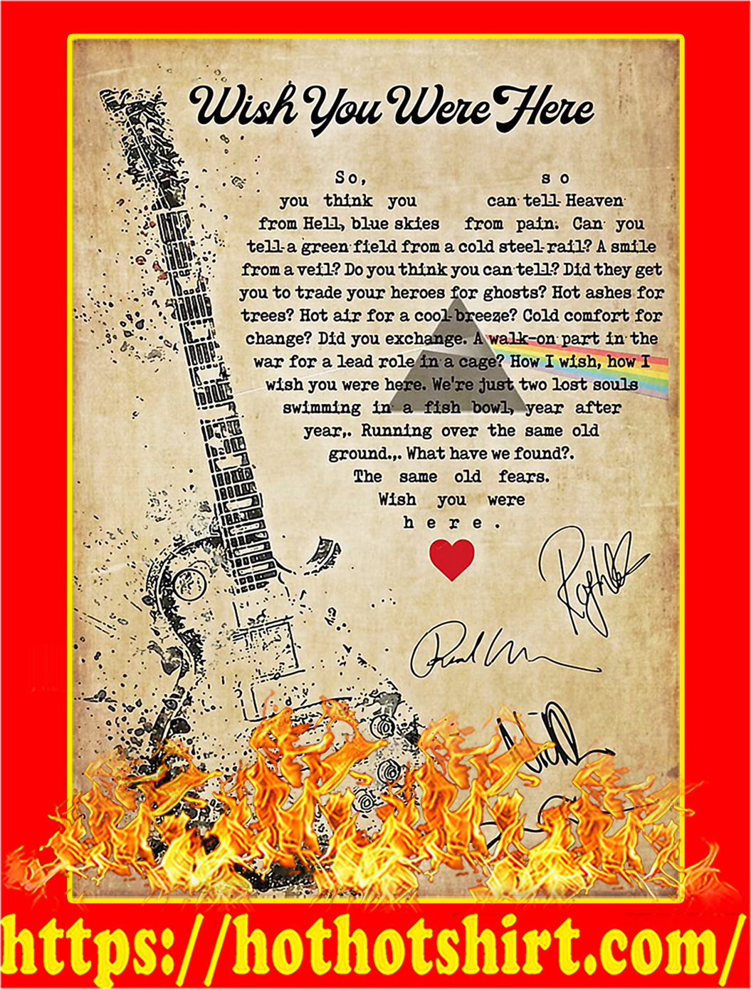 Wish you were here signature poster - A1