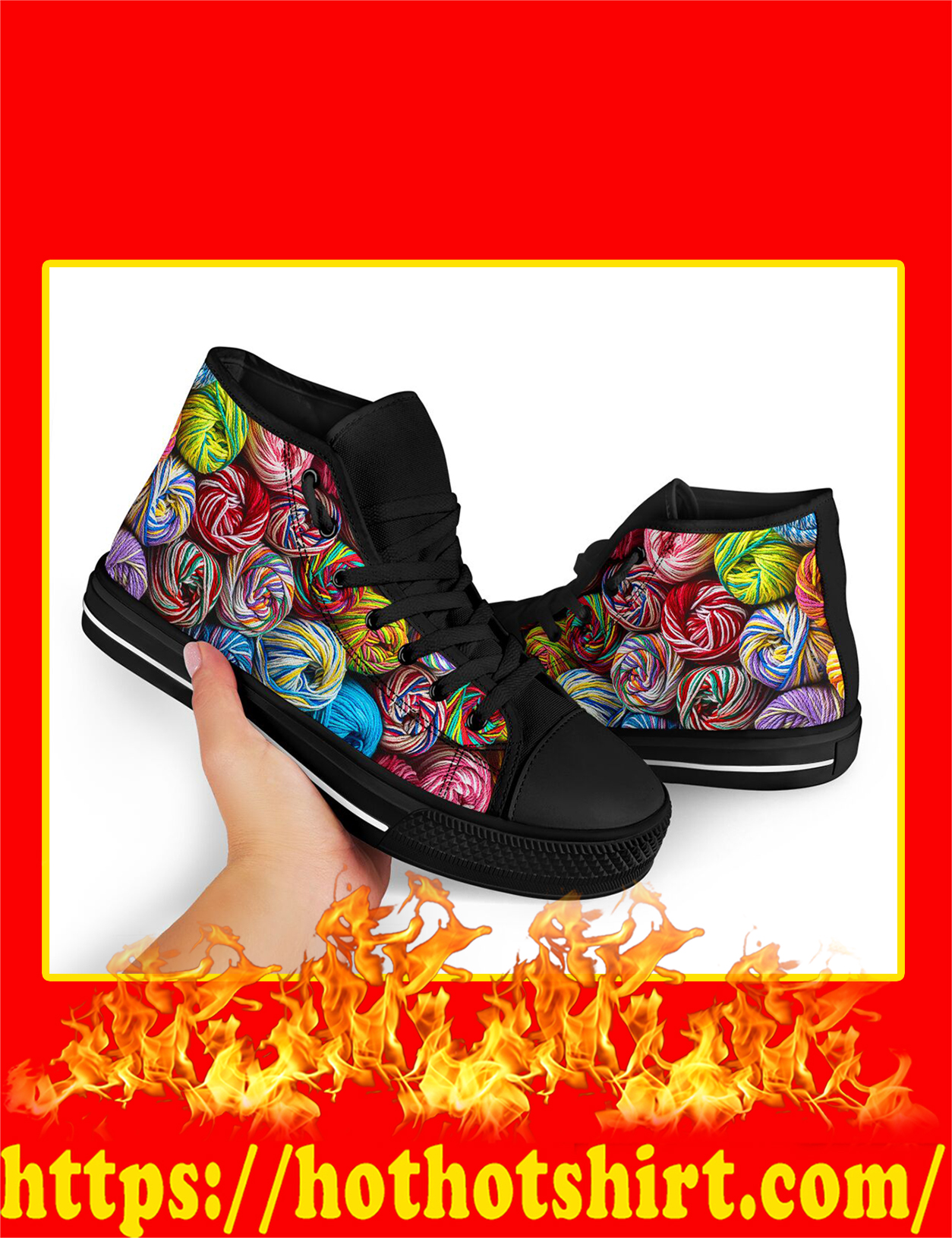 Yarn High Top Shoes - Pic 2