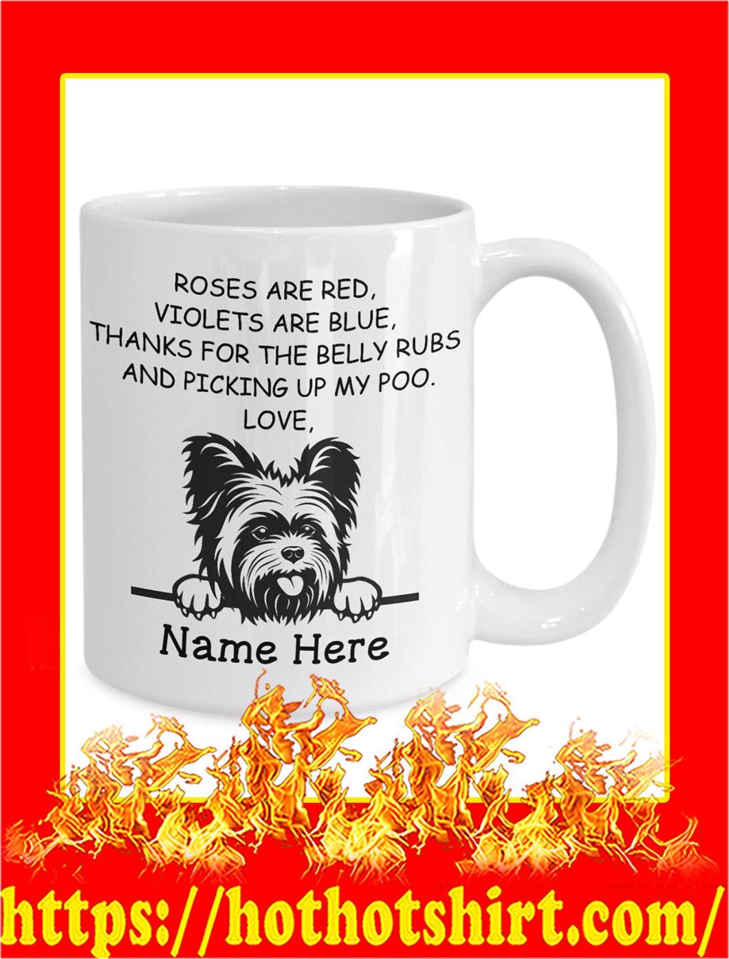 Yorkie Roses Are Red Custom Name Personalize mug- 15 oz