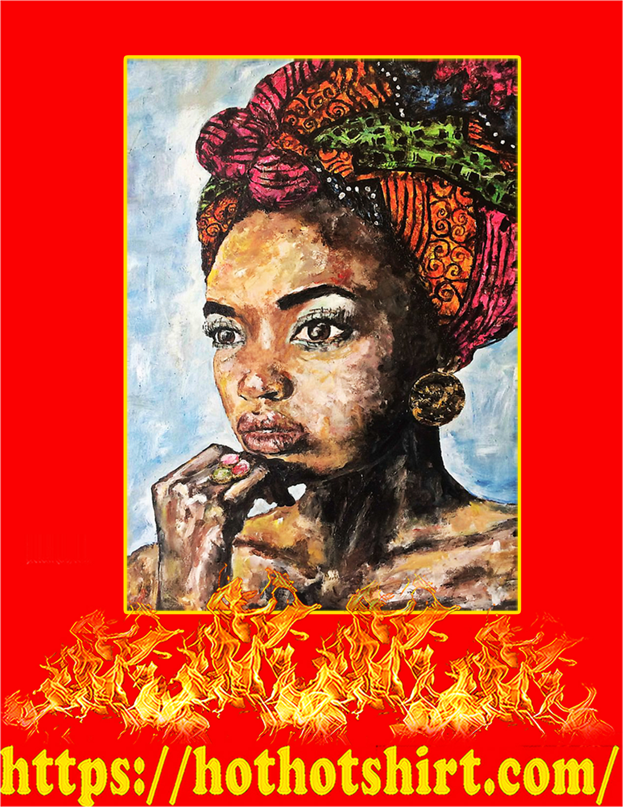 African Woman Poster - A2