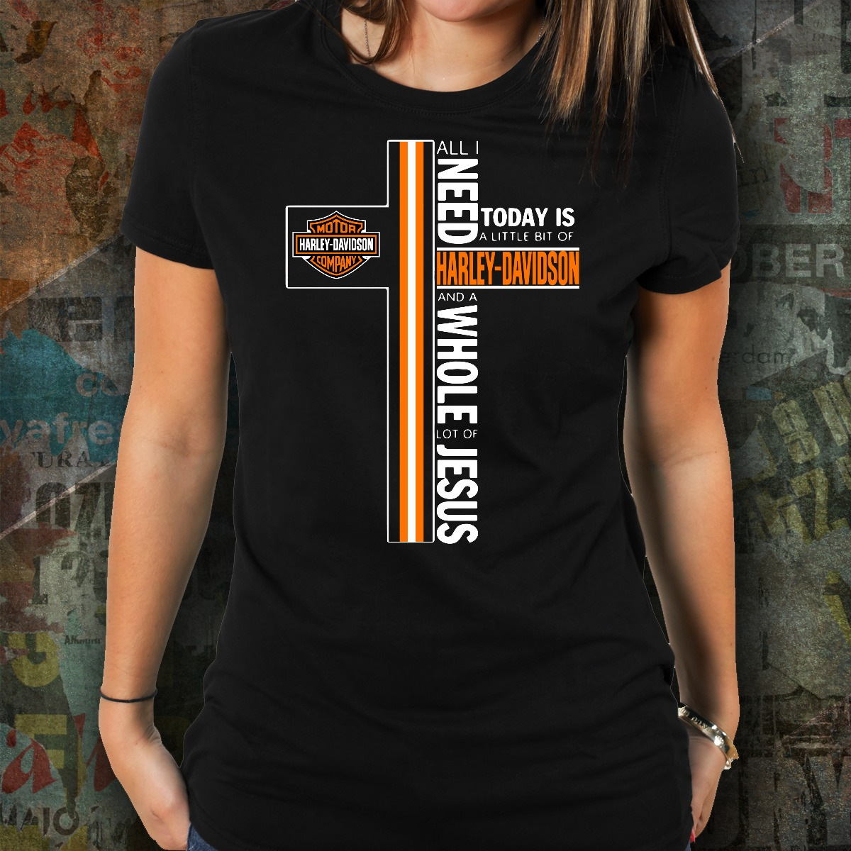 All I need today is a little bit of harley davidson jesus women shirt
