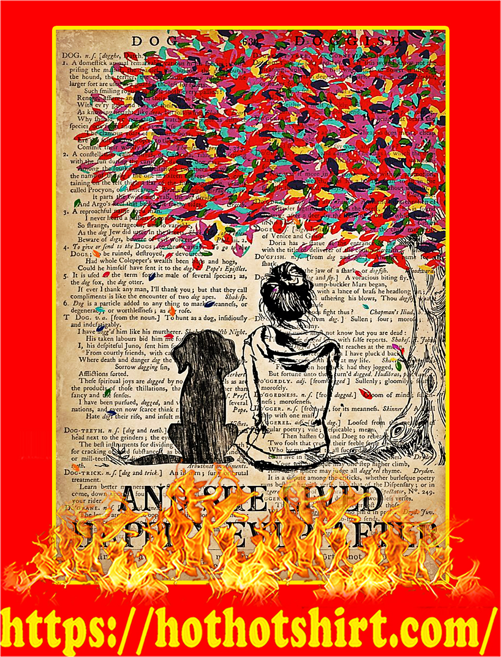 And she lived happily ever after dog dictionary poster