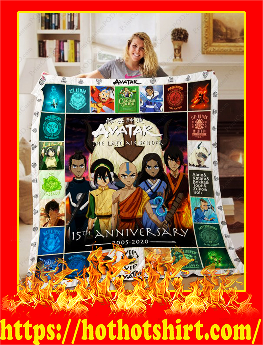 Avatar The Last Airbender Quilt Blanket - king