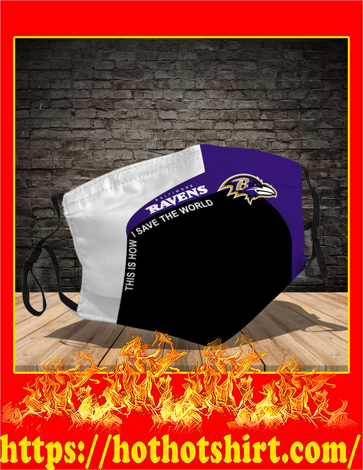 Baltimore Ravens 3d face mask - detail
