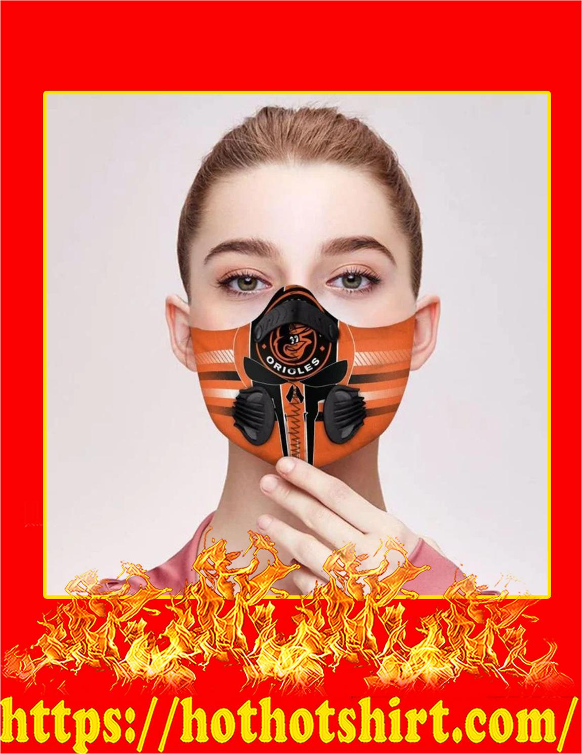 Baltimore orioles punisher skull filter face mask - Pic 1