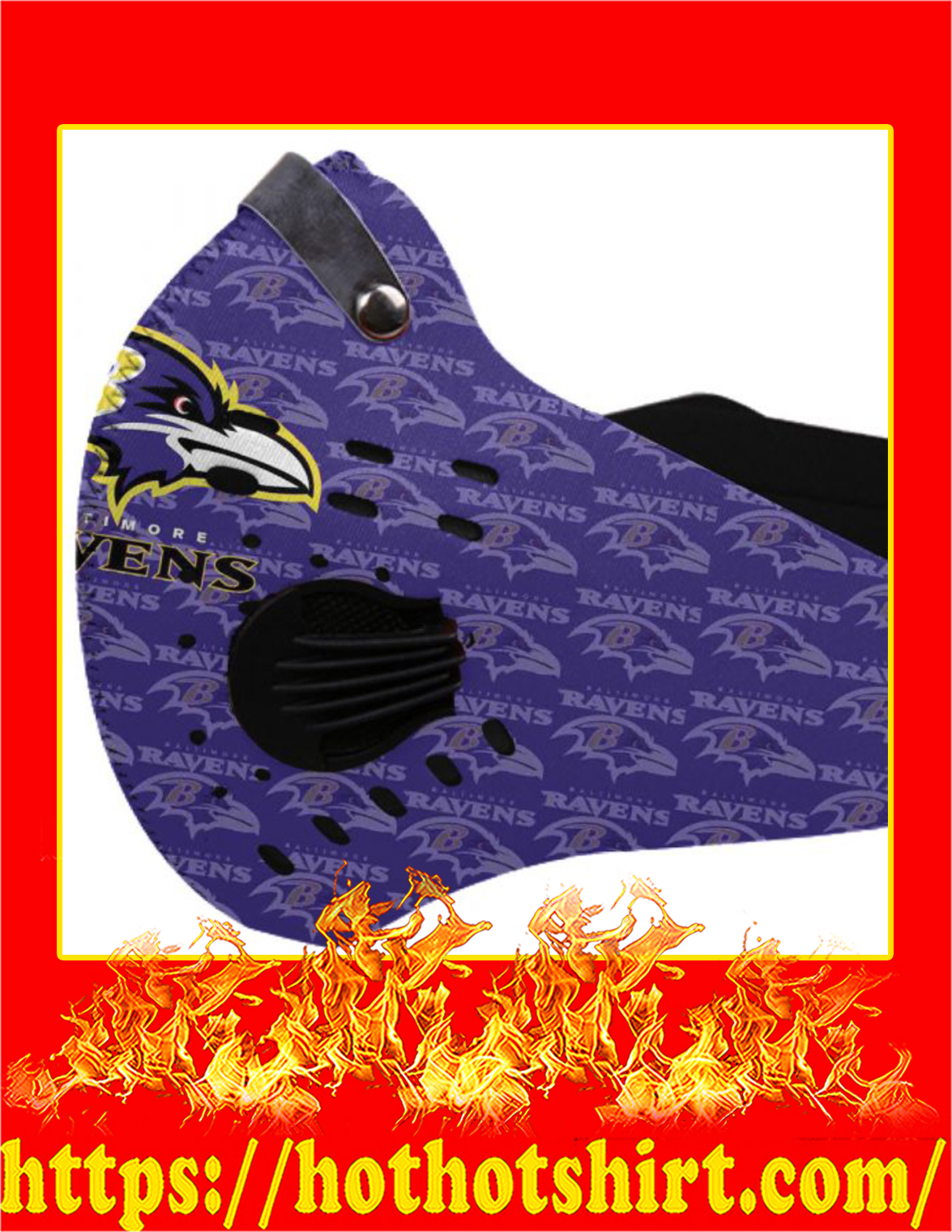Baltimore ravens filter face mask - Pic 1