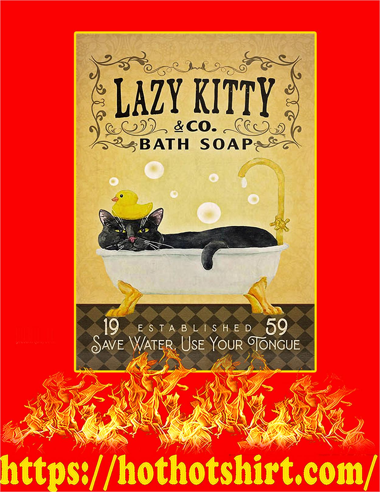 Bath soap company lazy kitty poster - A2