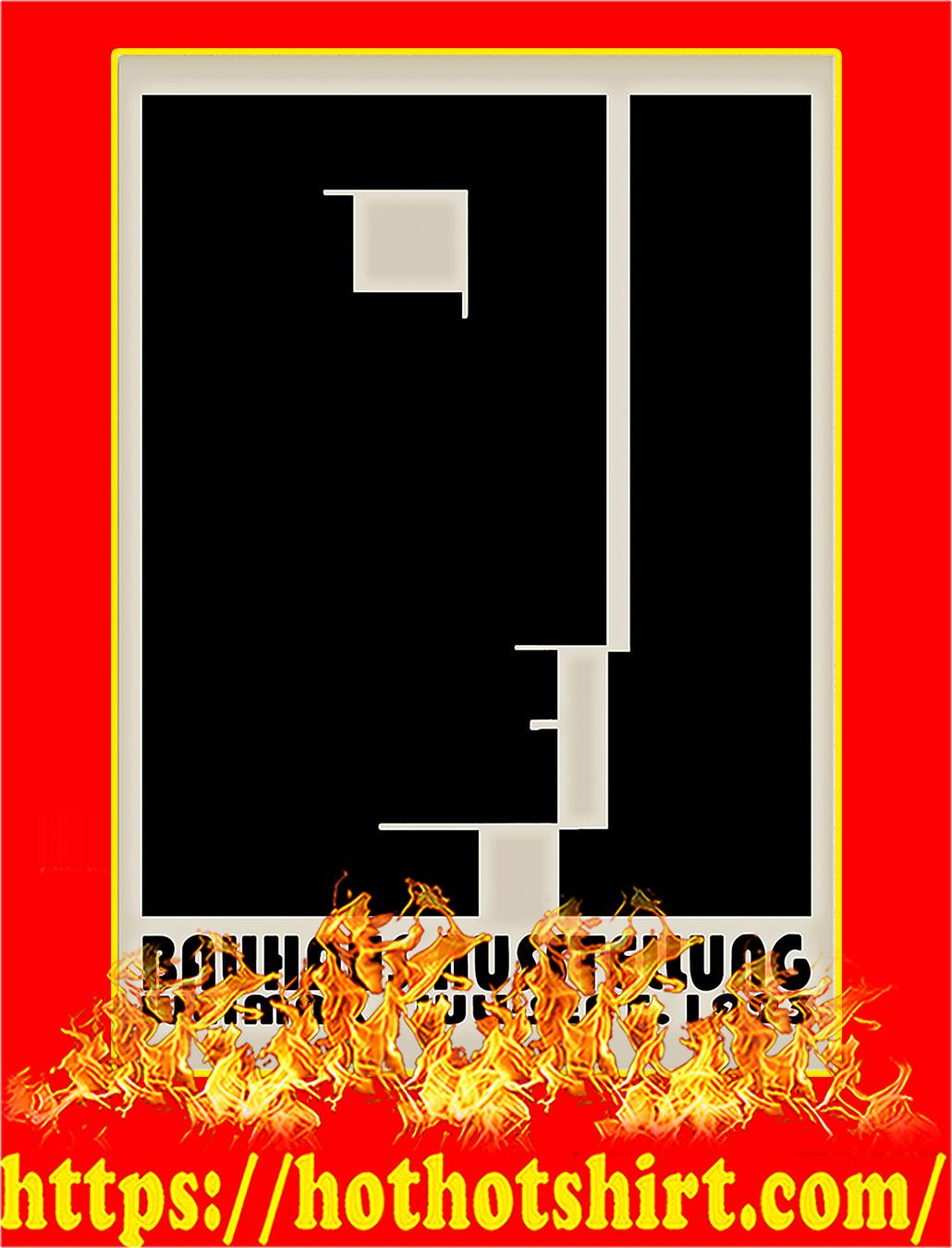 Bauhaus Ausstellung Weimar Juli - Sept 1923 poster - A4
