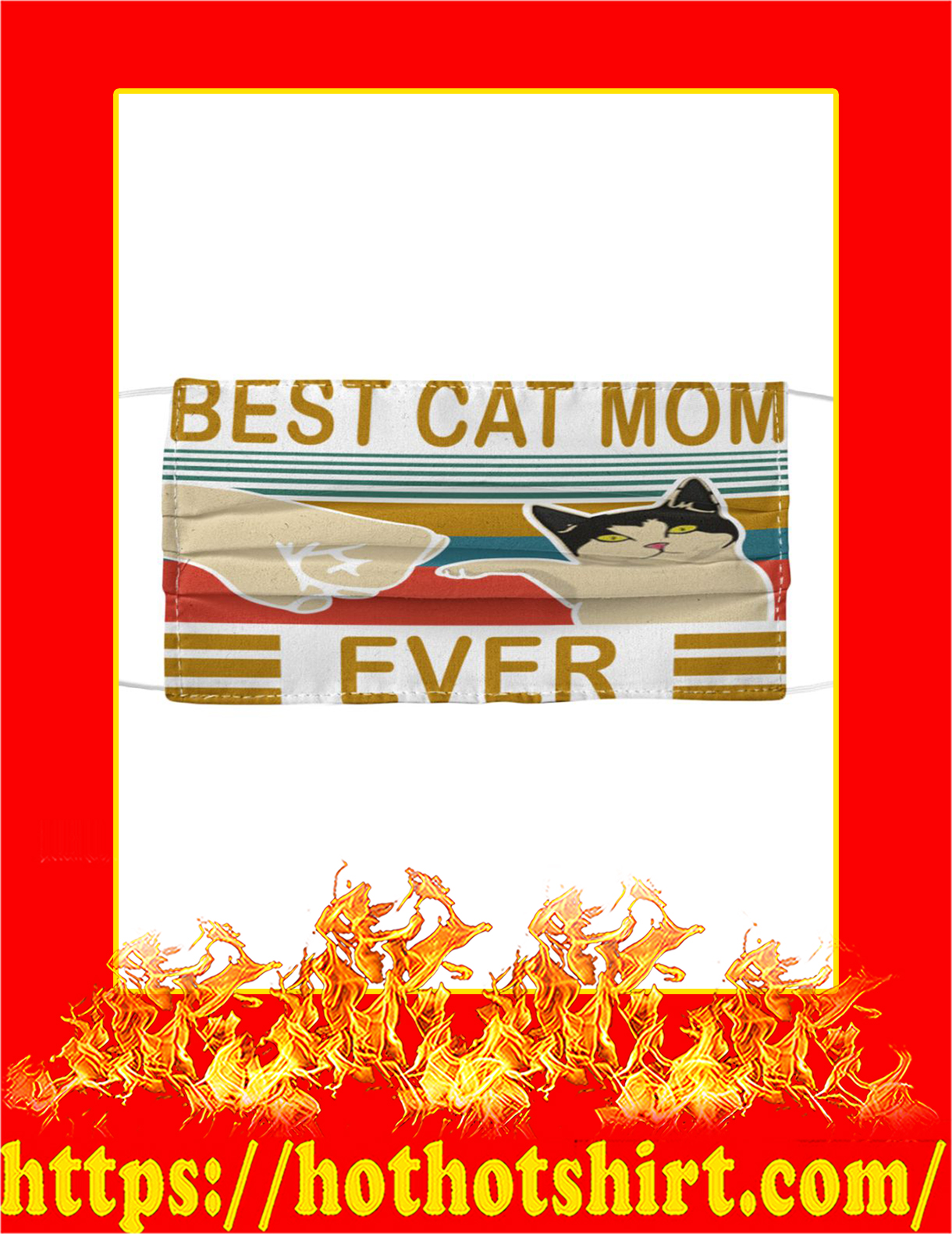Best cat mom ever cloth face mask - detail
