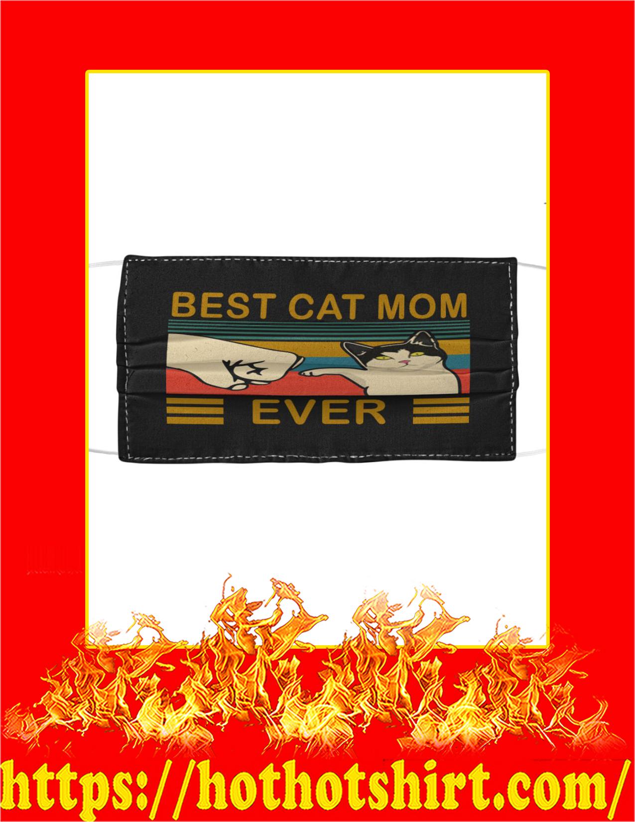 Best cat mom ever face mask - black