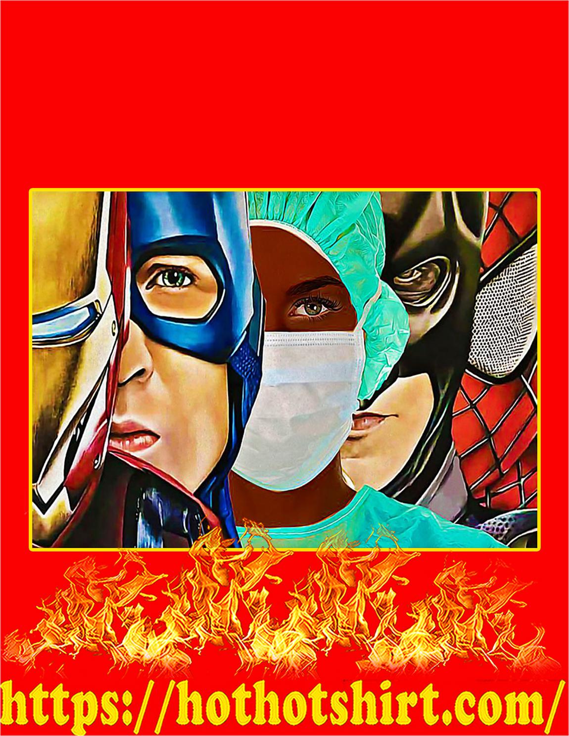 Black Nurse Superheroes Iron Man Poster - A4