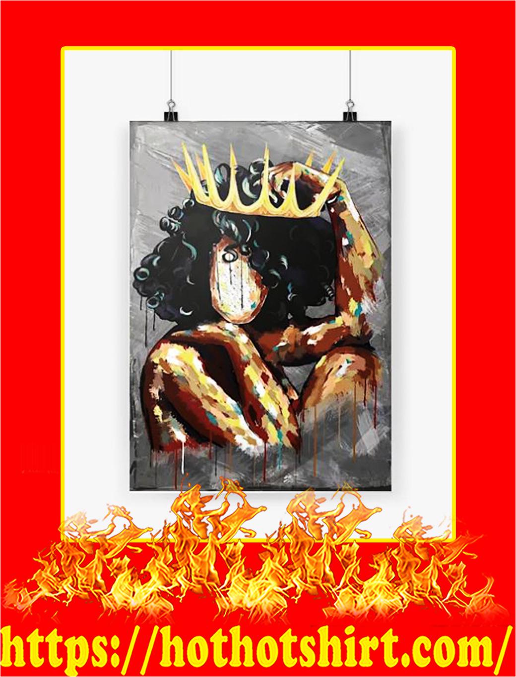 Black Queen Vertical Poster - A3