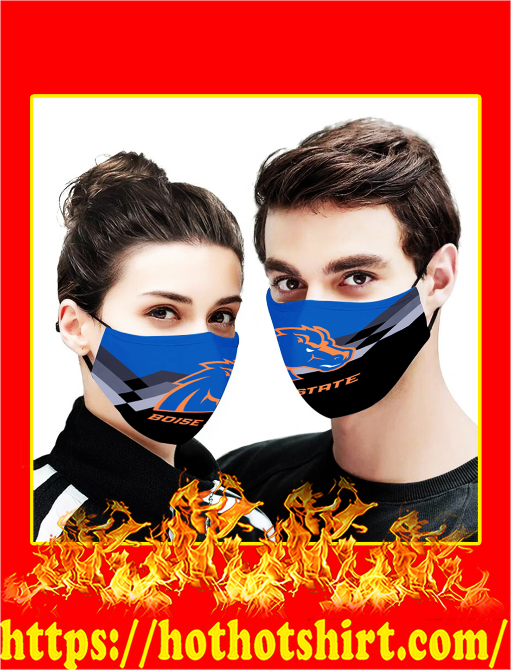 Boise State 3d face mask- pic 1