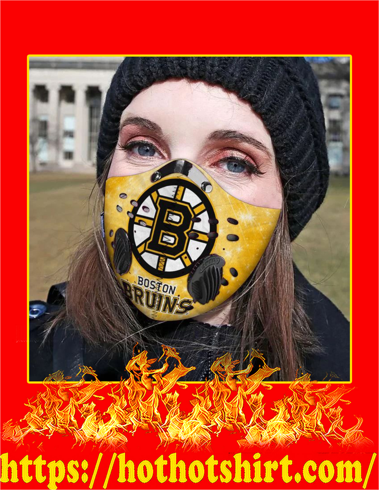 Boston bruins filter face mask - Pic 2