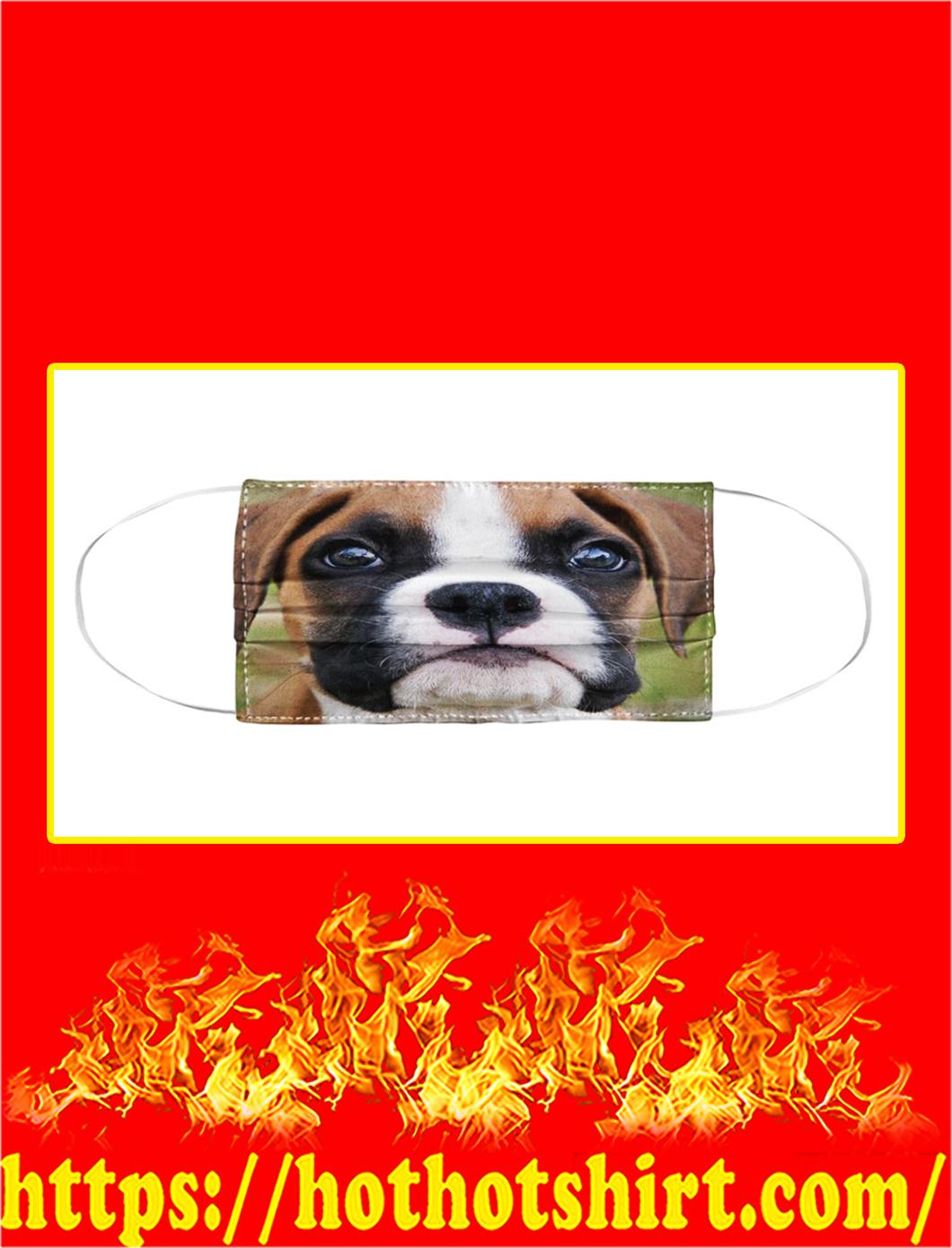 Boxer dog cloth face mask- pic 1