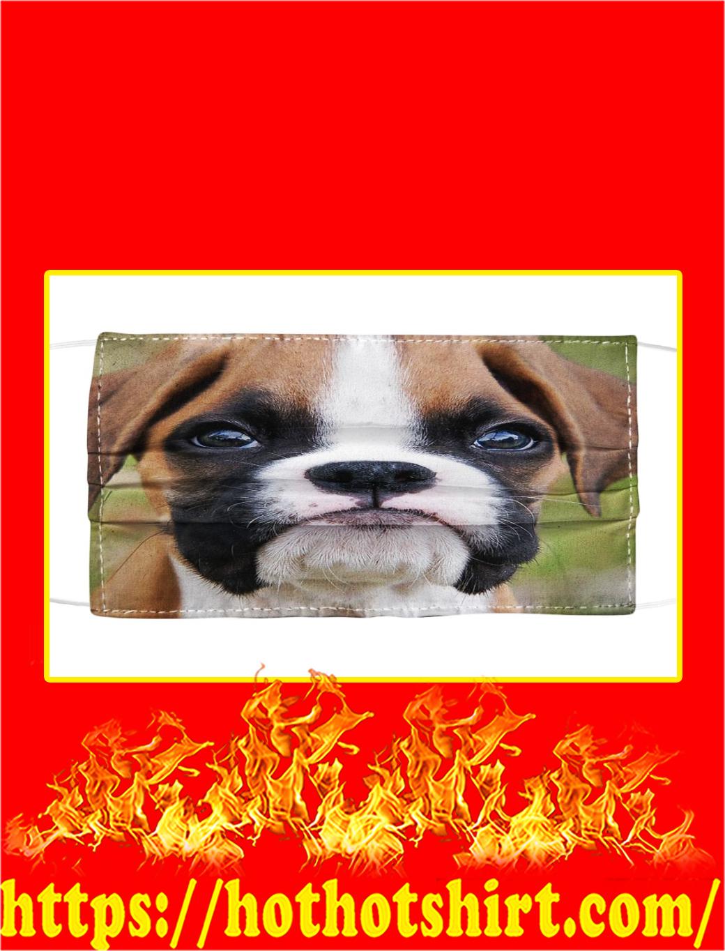 Boxer dog cloth face mask