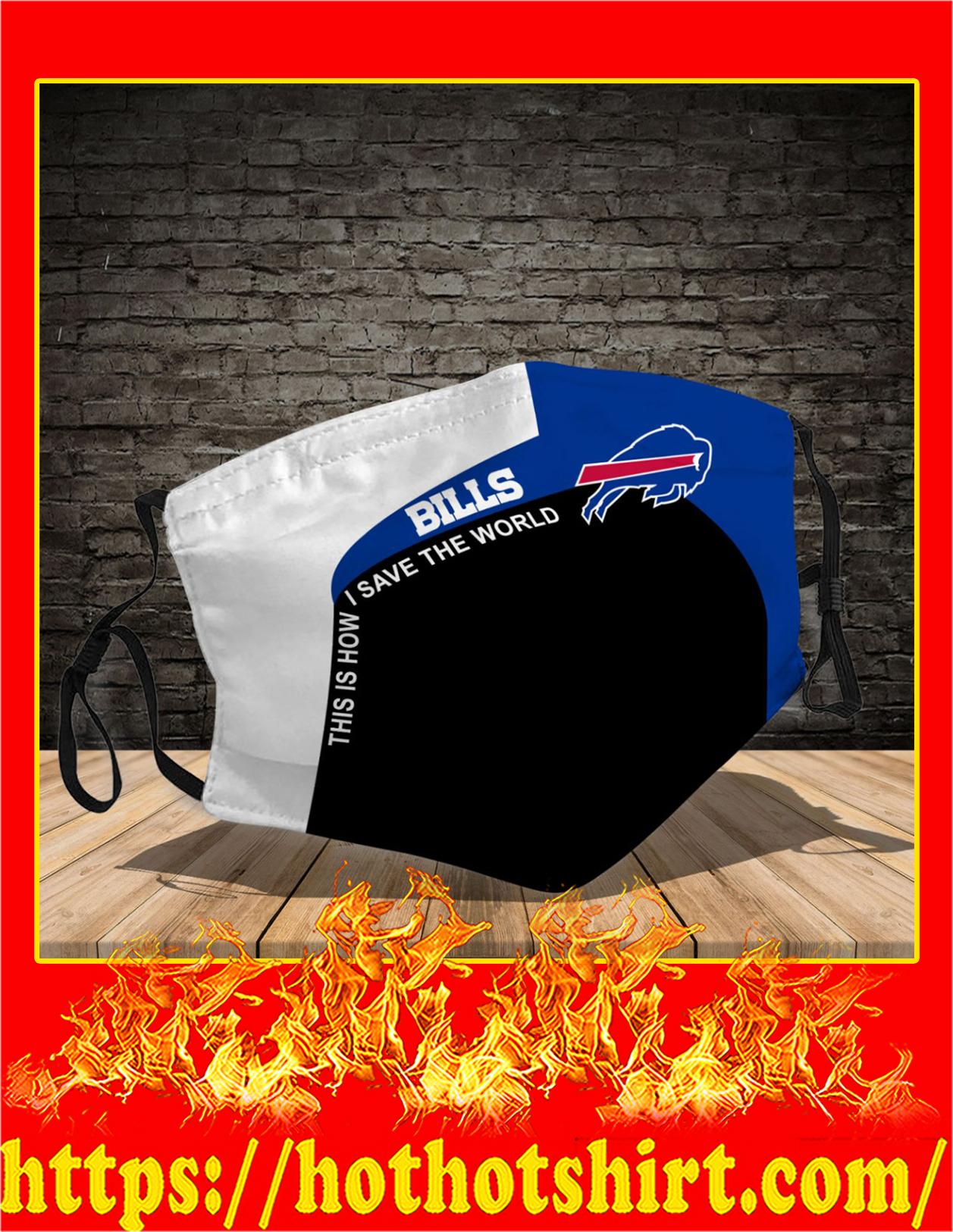 Buffalo Bills 3d face mask - detail