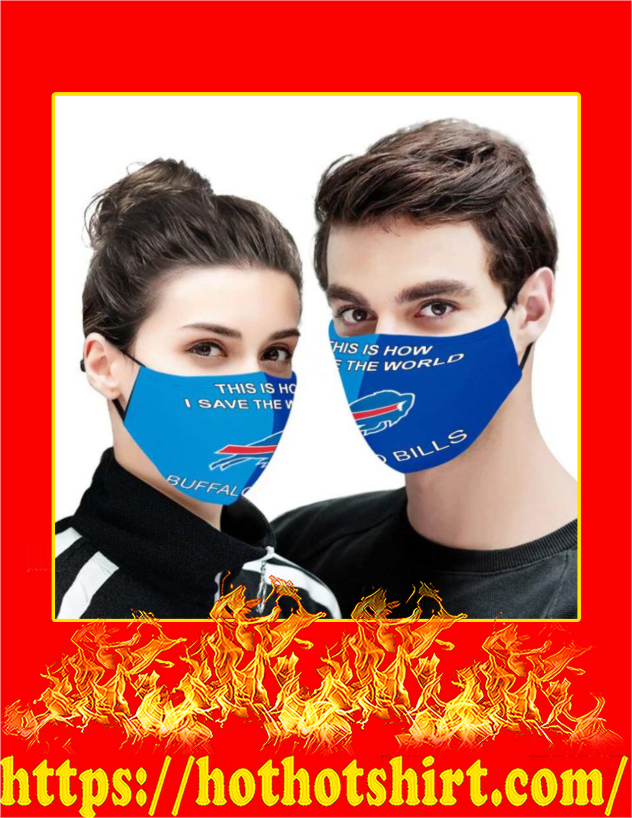 Buffalo Bills this is how i save the world face mask - detail