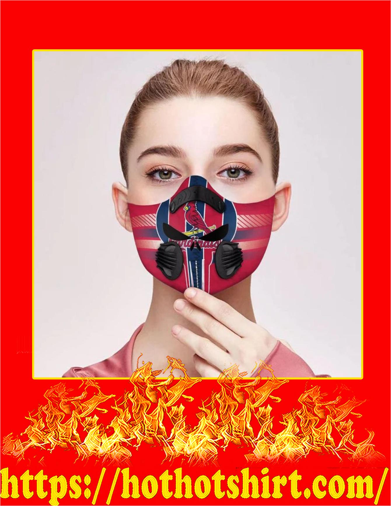 Cardinals punisher skull filter face mask - Pic 1