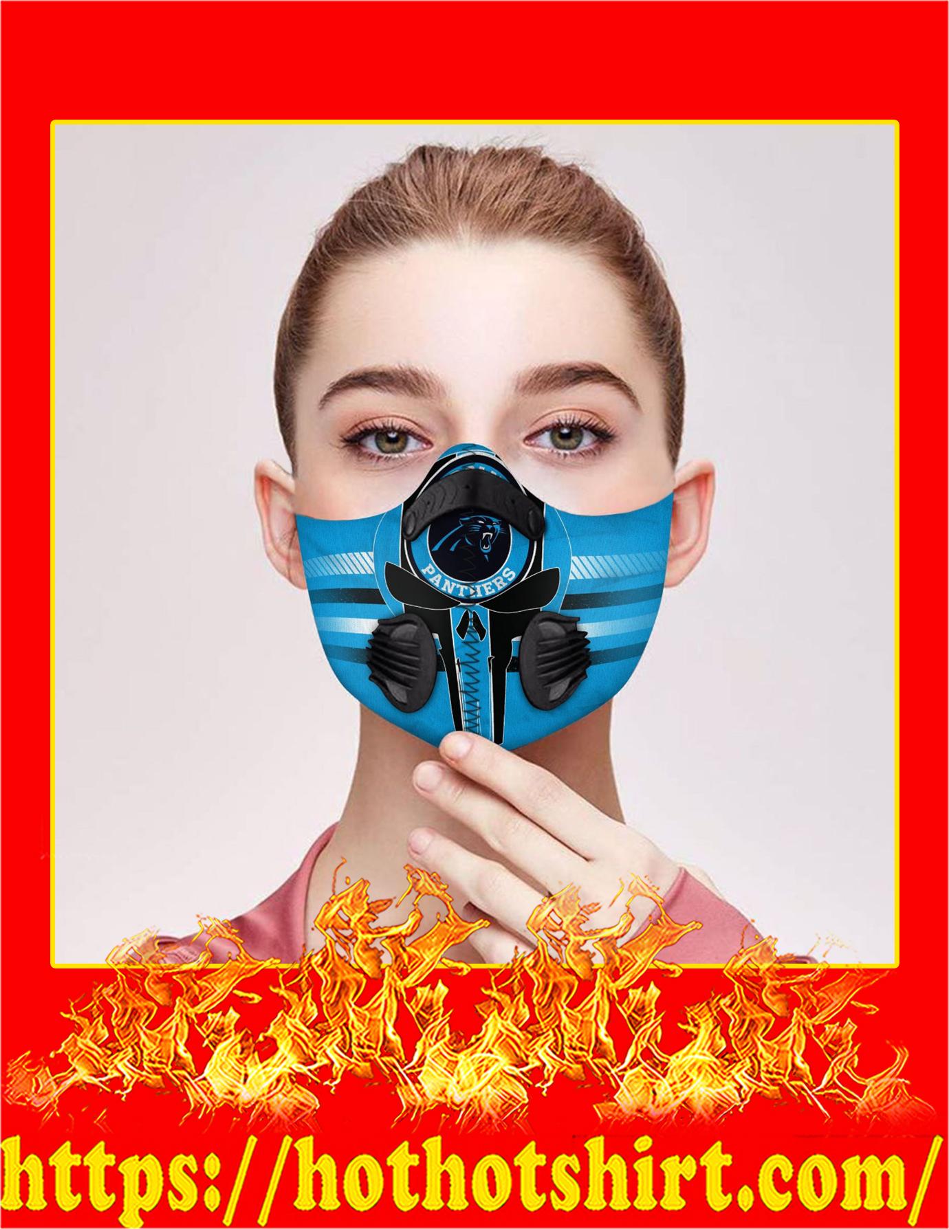 Carolina panthers punisher skull filter face mask - Pic 1