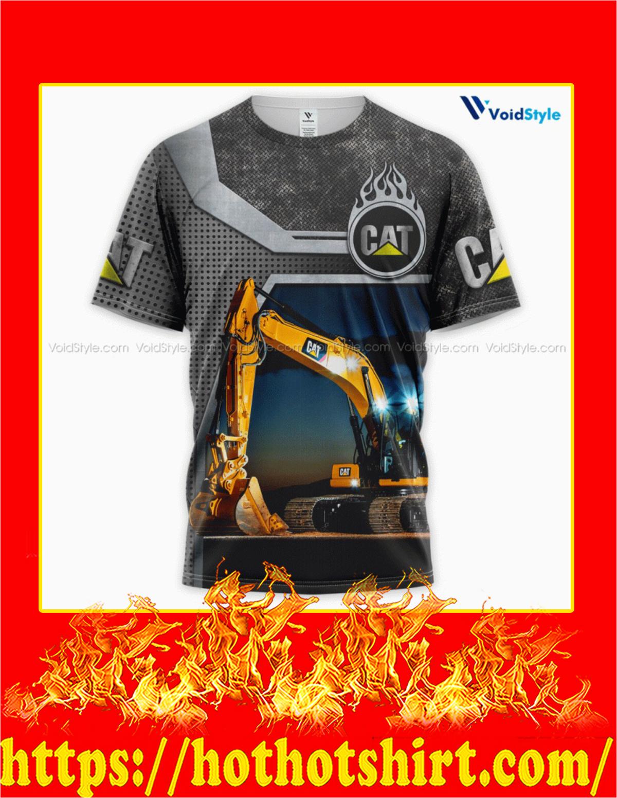Cat Heavy Equipment 3d printed T-shirt