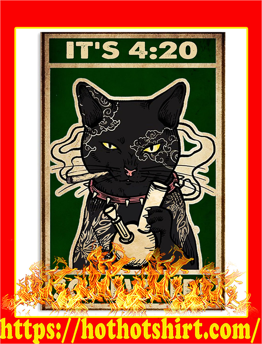 Cat It's 420 somewhere poster- A1