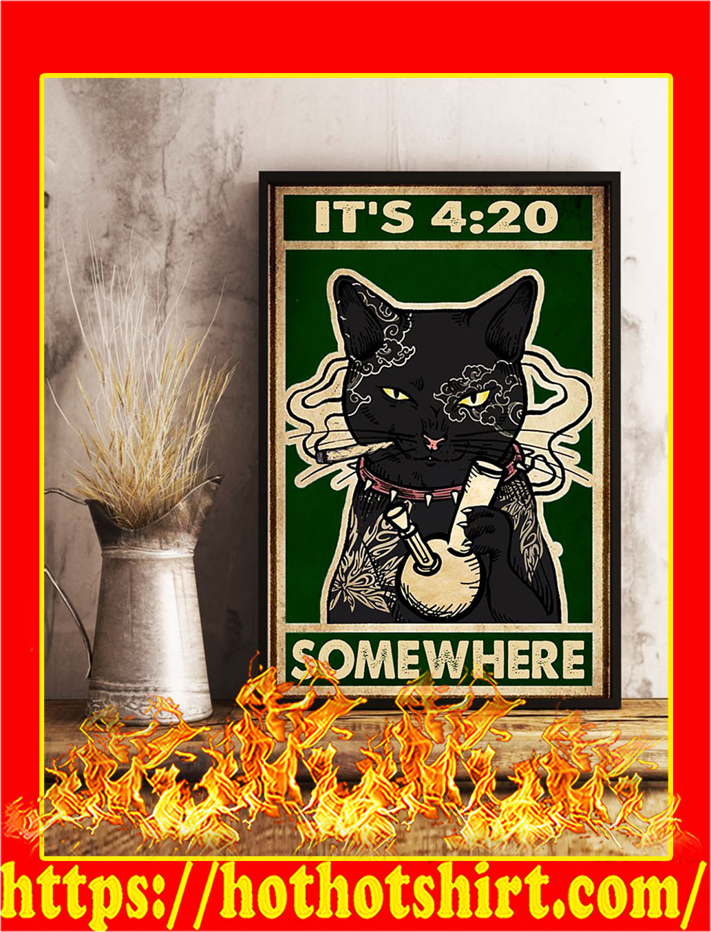 Cat It's 420 somewhere poster- A2