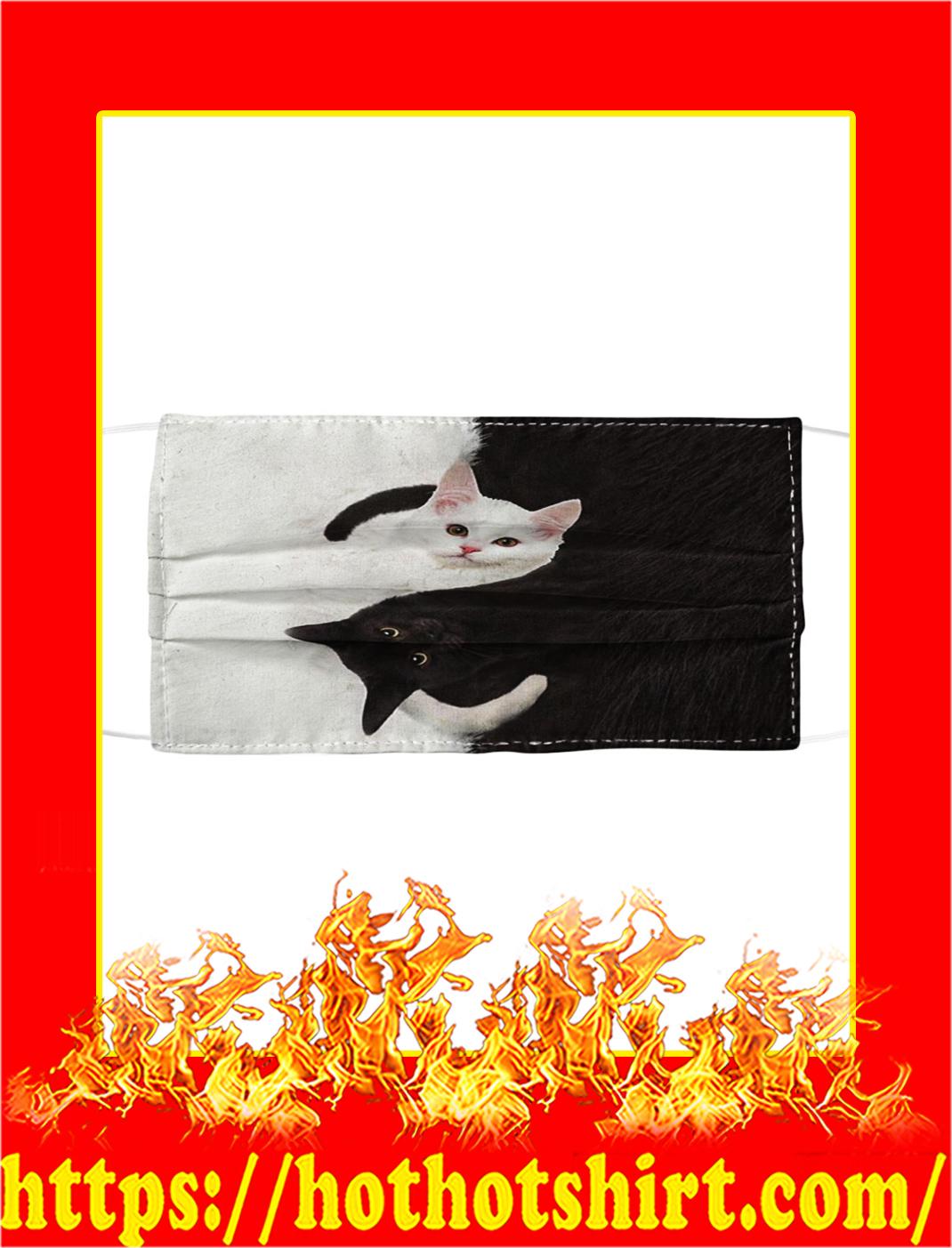 Cat Yin Yang Cloth Face Mask- pic 1