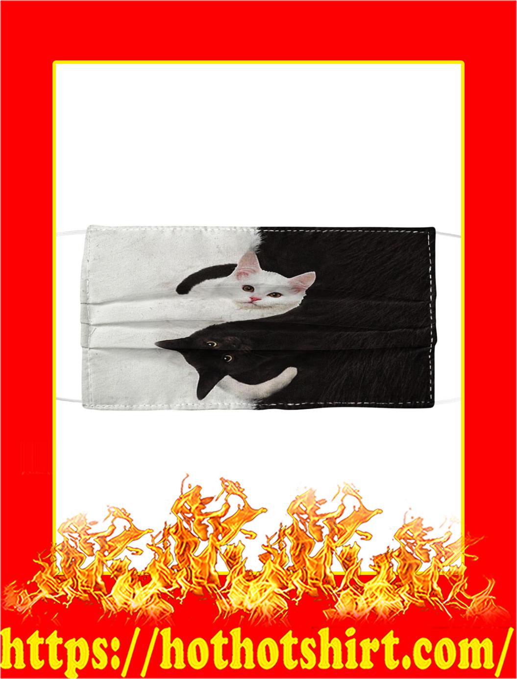 Cat Yin Yang Cloth Face Mask