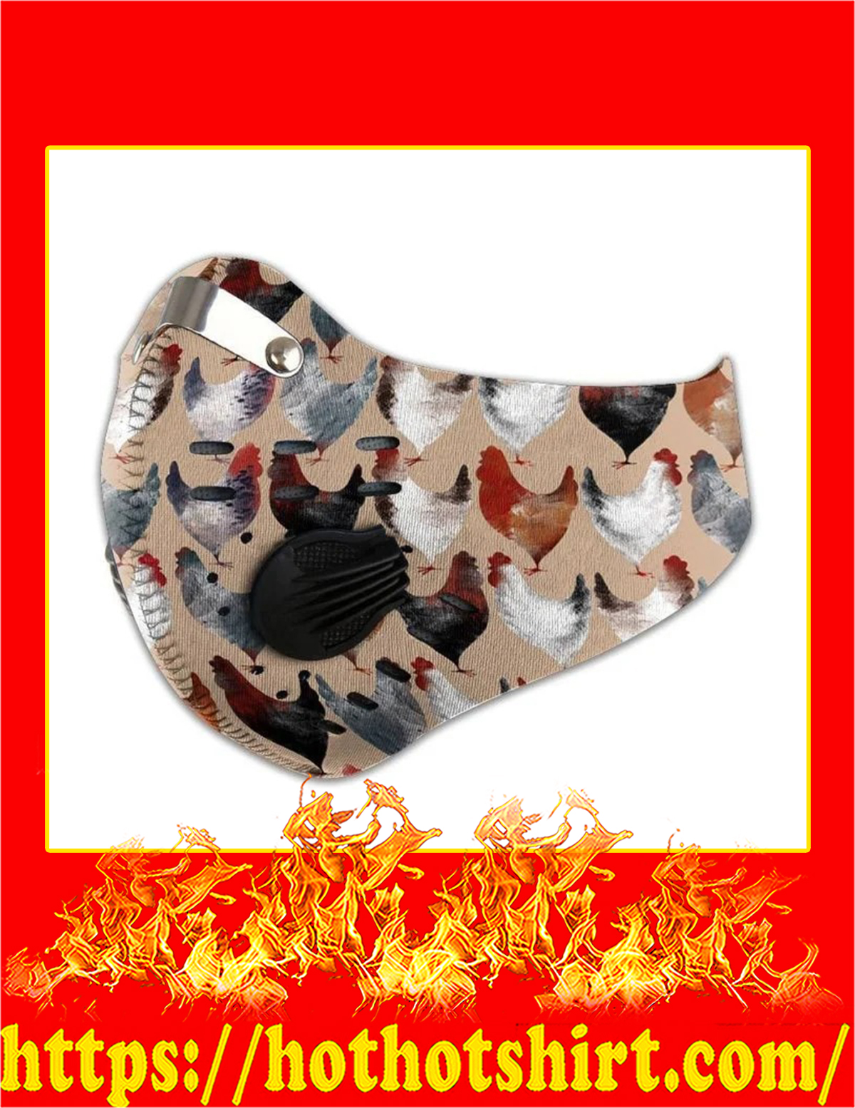 Chicken lovers filter face mask - Detail