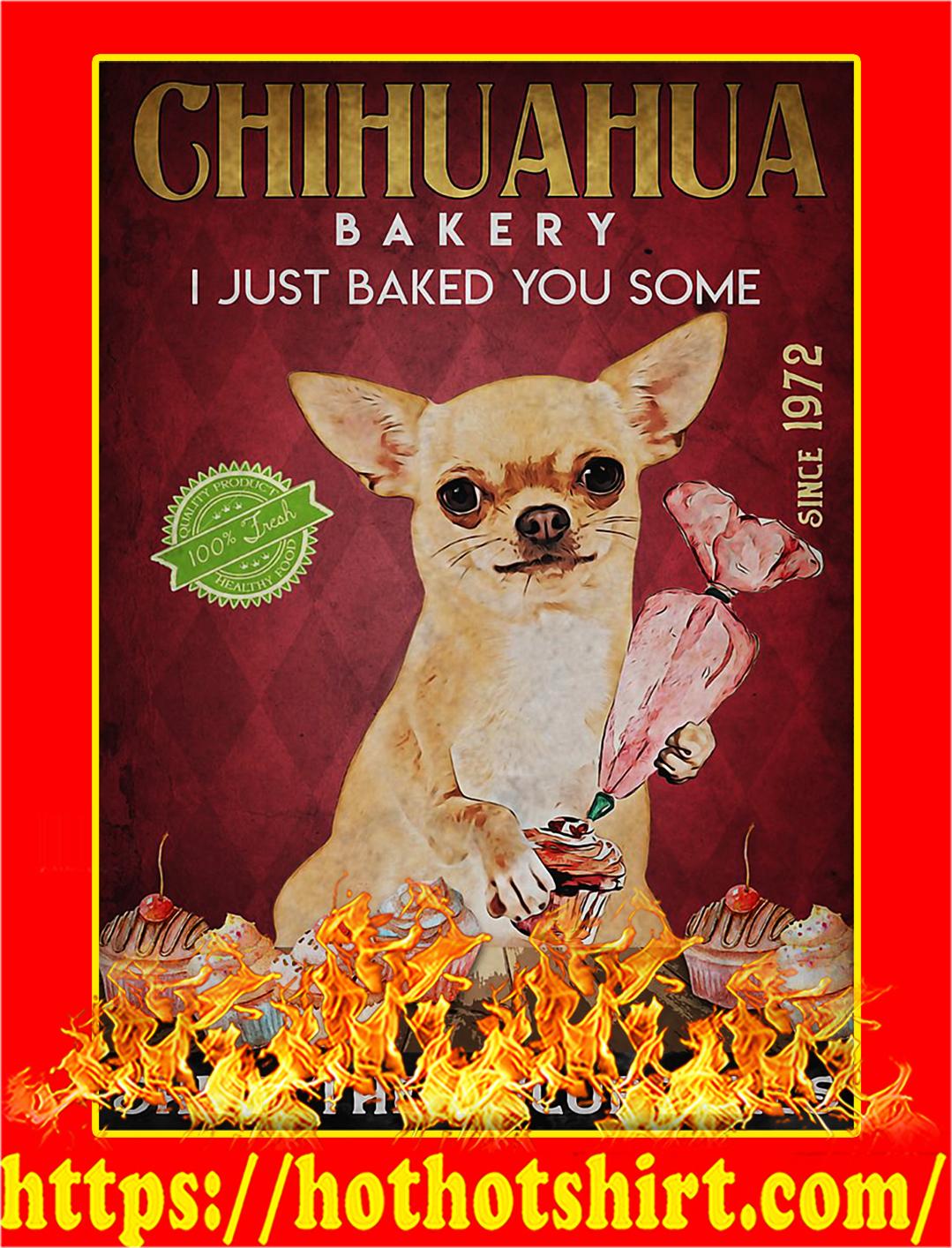 Chihuahua bakery shut the fucupcakes poster - A2