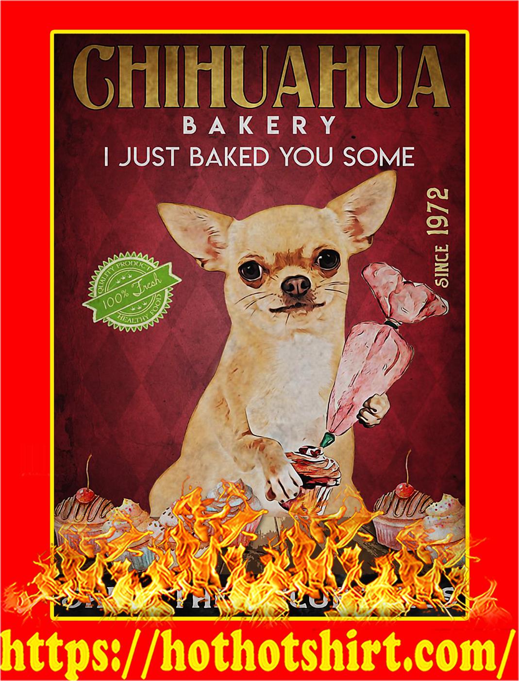 Chihuahua bakery shut the fucupcakes poster - A4