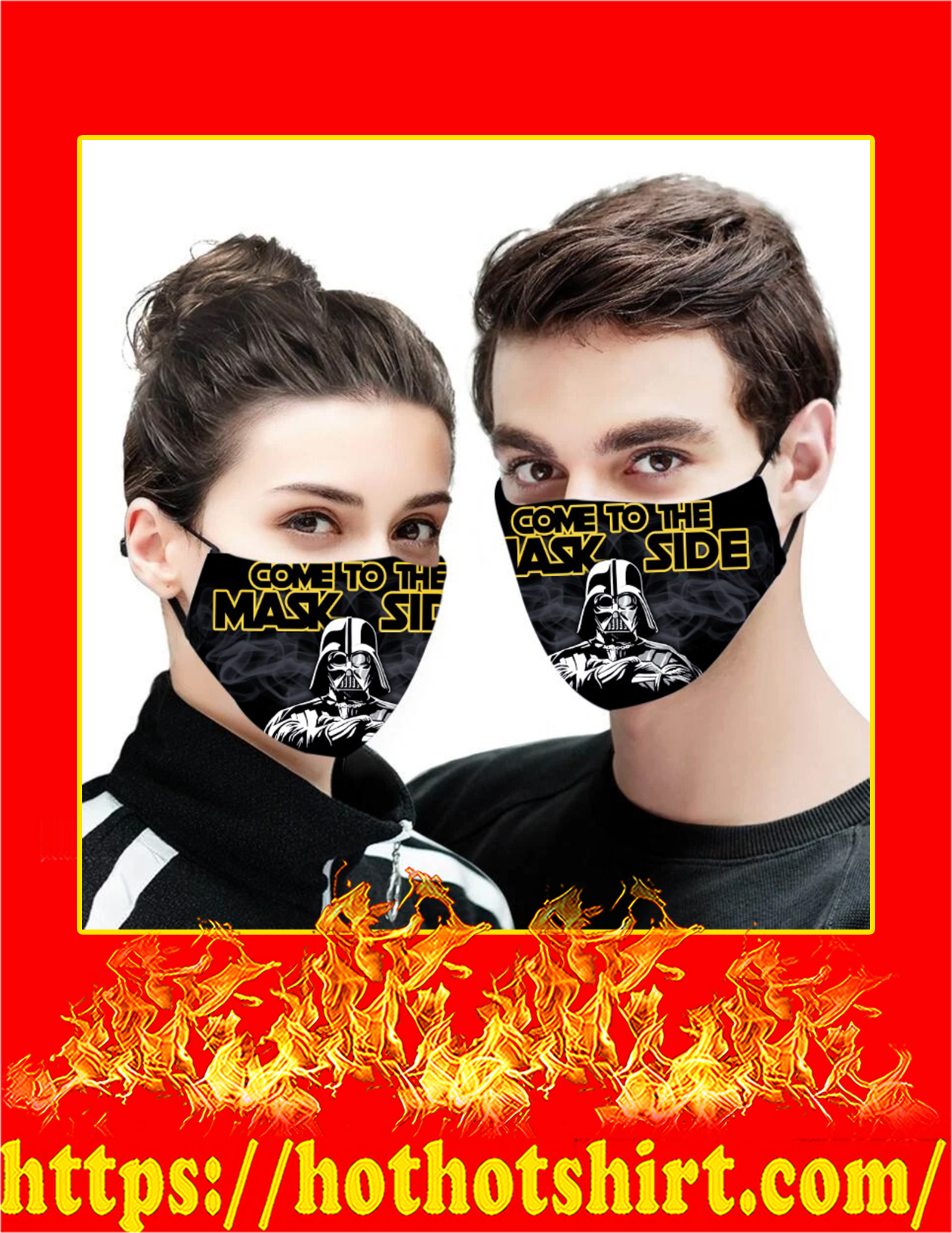 Come to the mask side Star wars face mask - deail