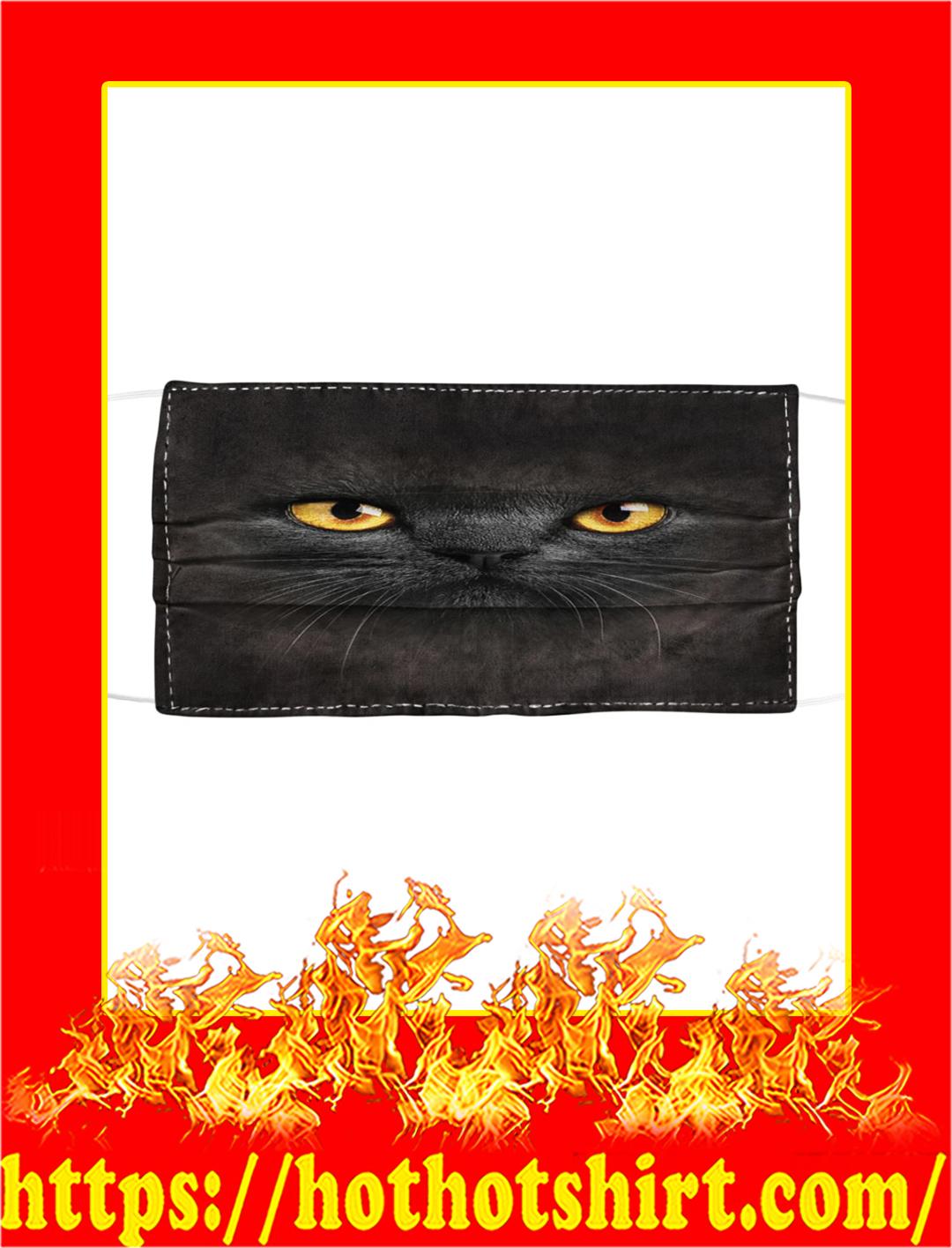 Coronavirus Cat Cloth Face Mask- black