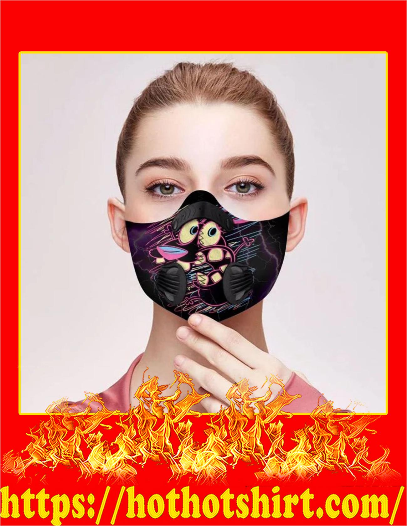 Cowardly dog filter face mask - Pic 2