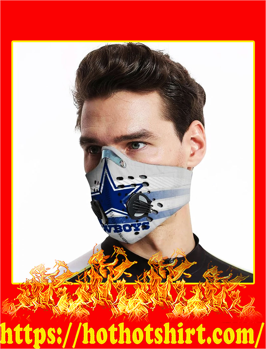 Cowboys Filter Activated Carbon Pm 2.5 Fm Face Mask- pic 1