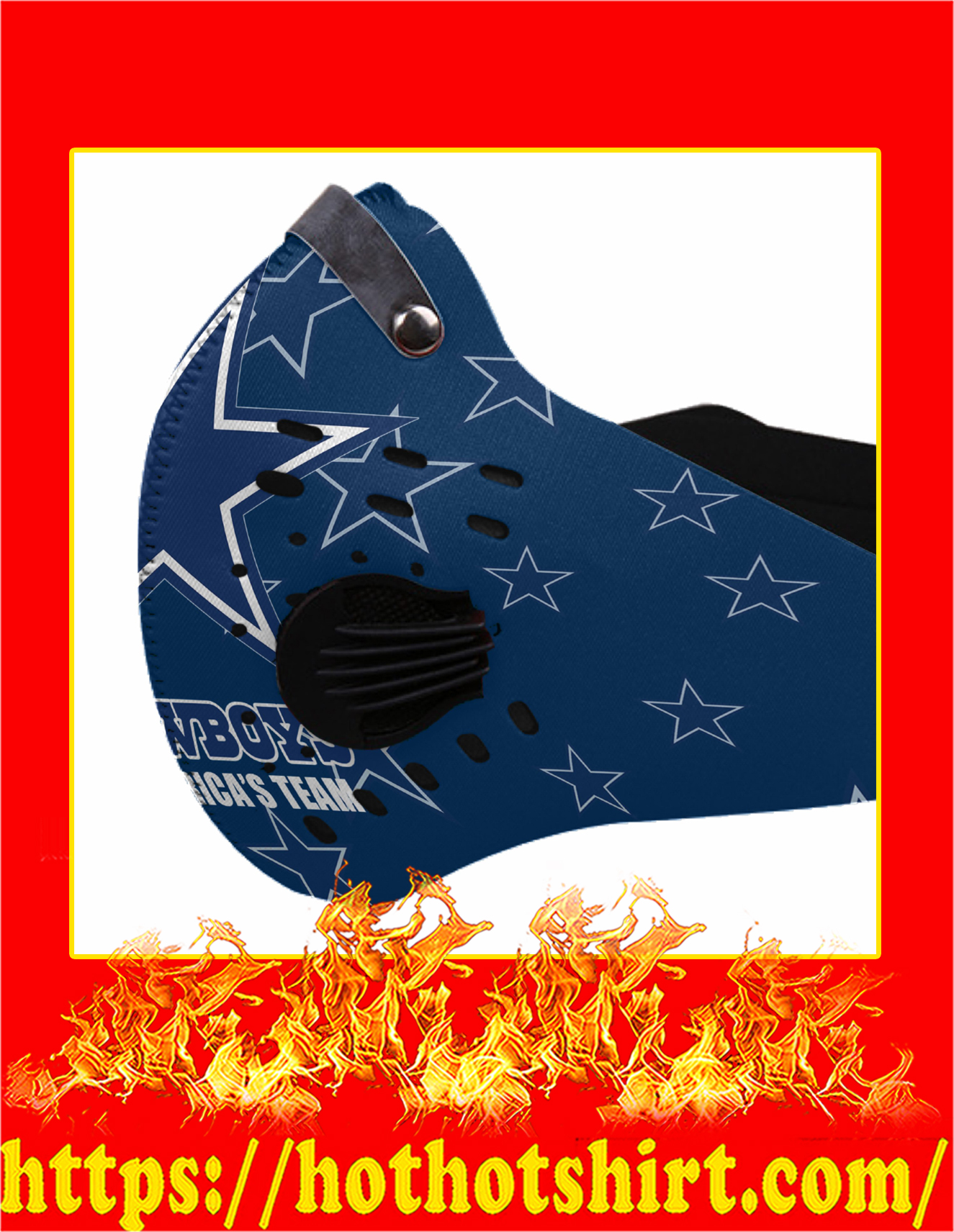 Cowboys america's team filter face mask - Pic 1