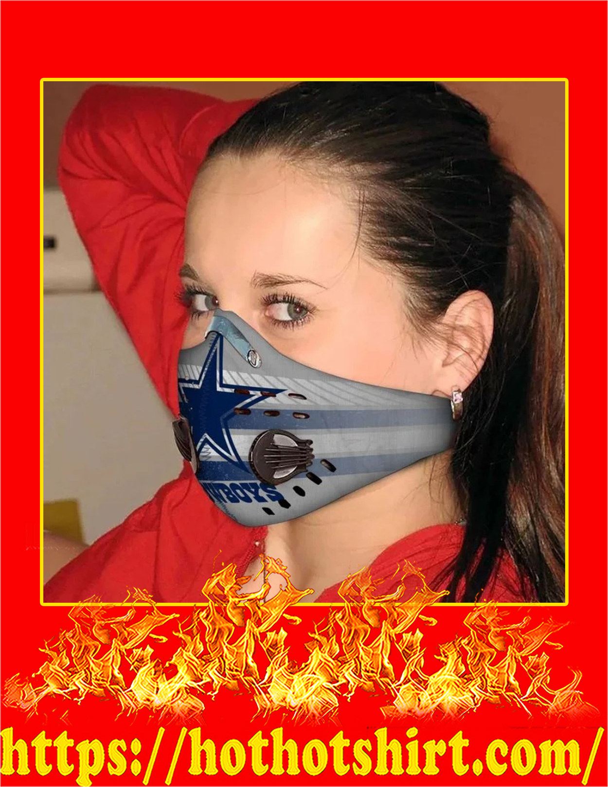 Dallas cowboys filter face mask - Pic 1