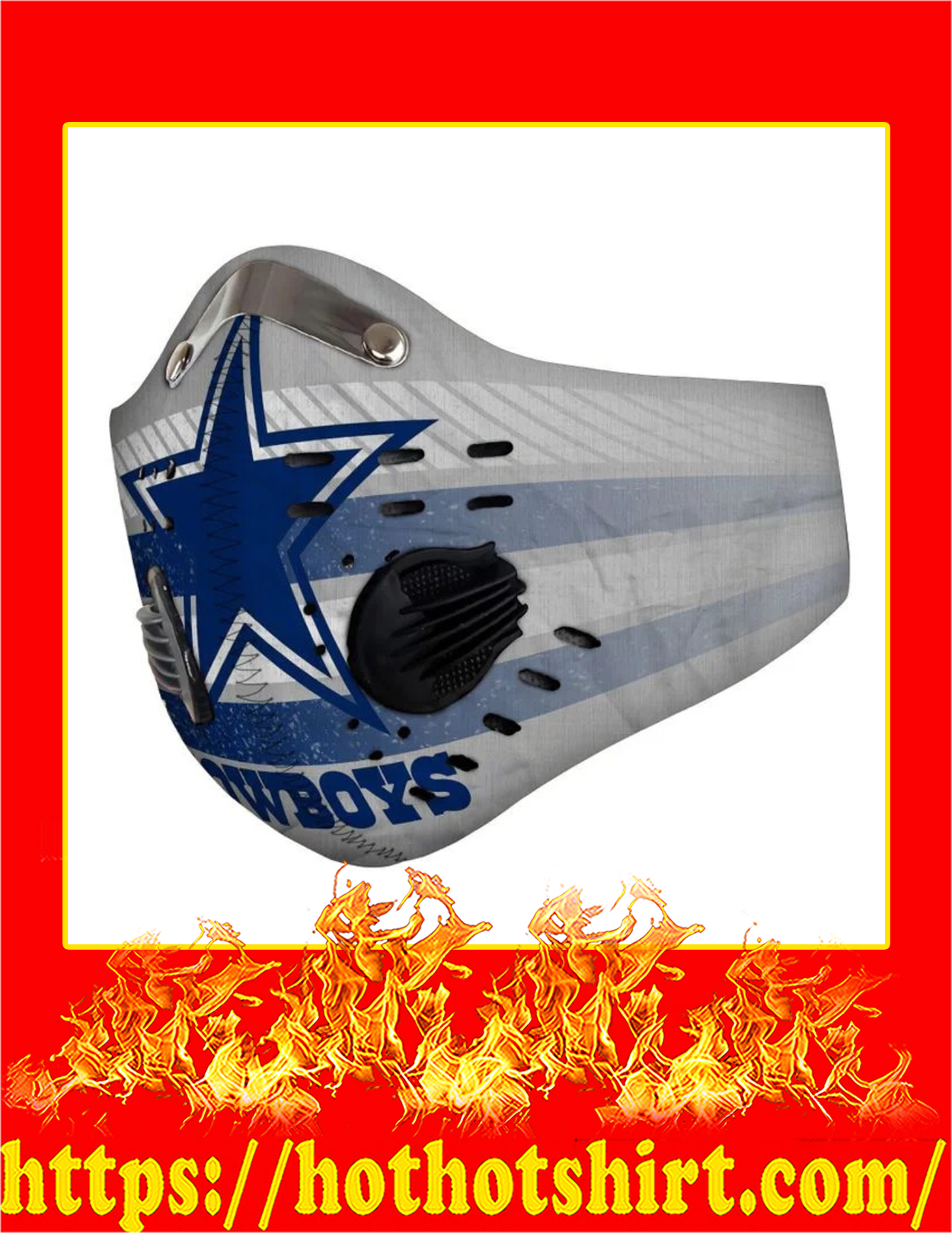 Dallas cowboys filter face mask - Pic 3