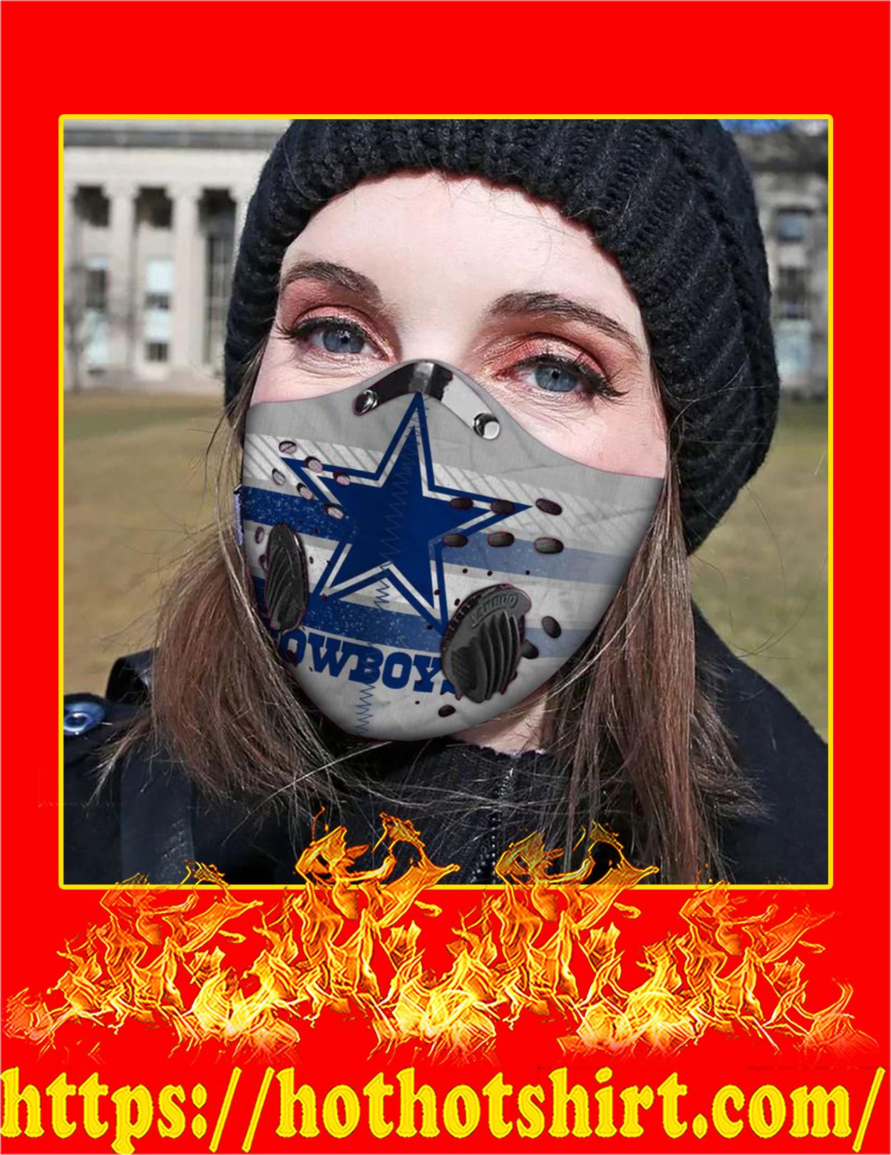 Dallas cowboys filter face mask