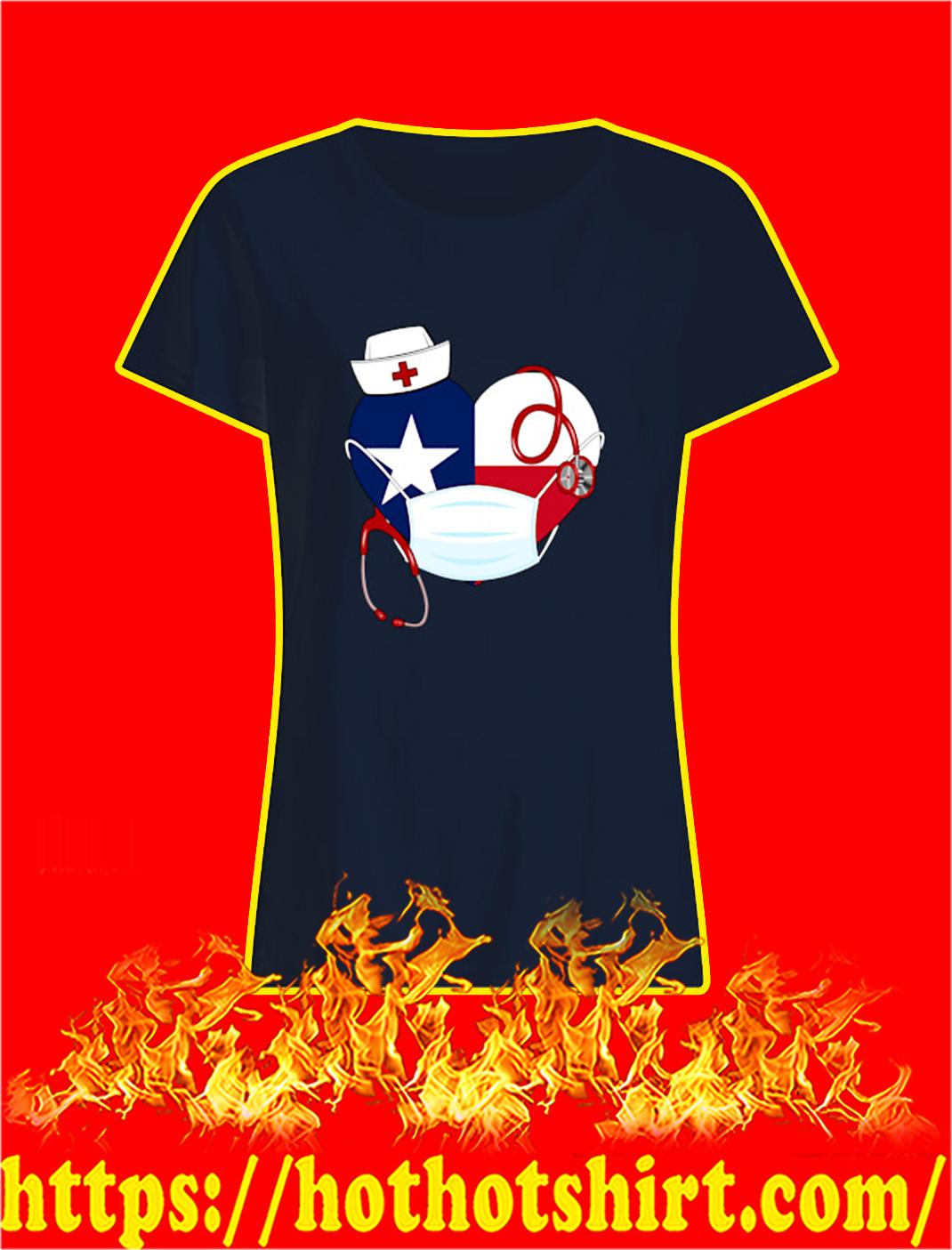 Dallas cowboys nurse heart coronavirus lady shirt