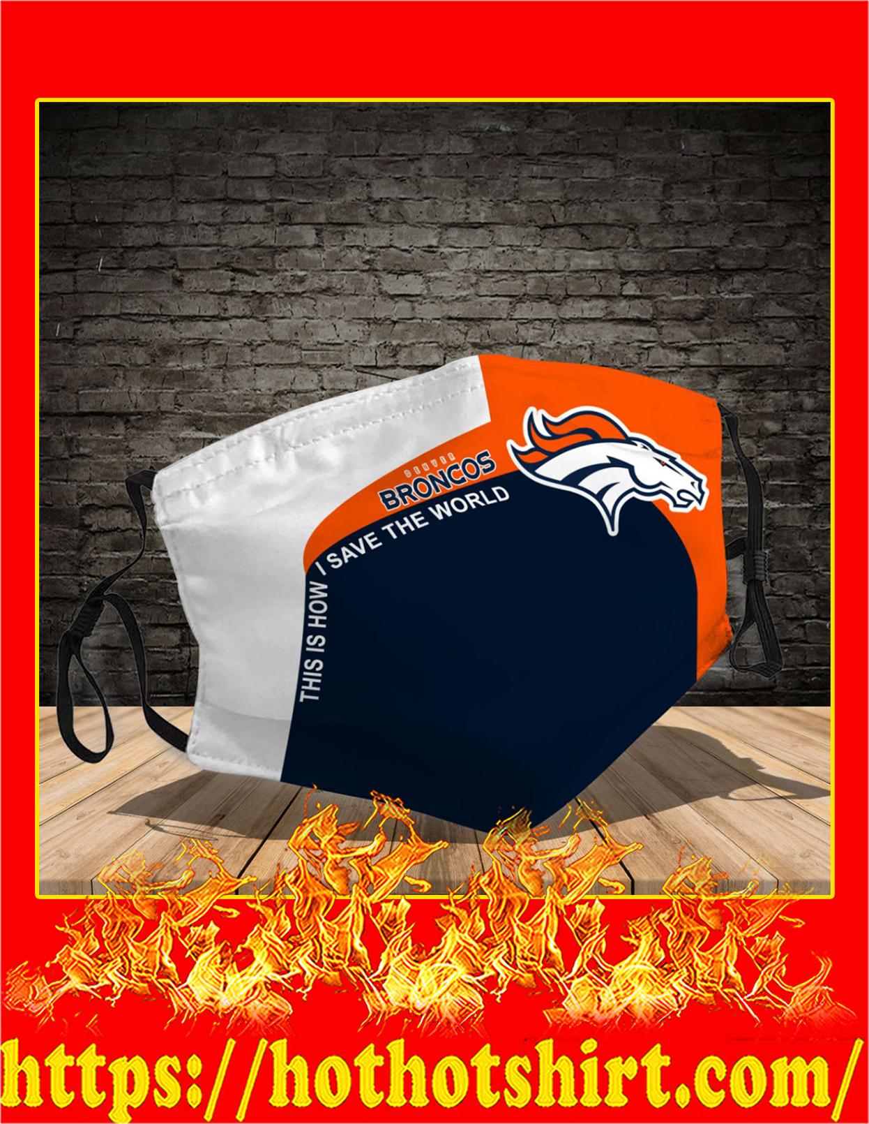 Denver Broncos 3d face mask - Detail