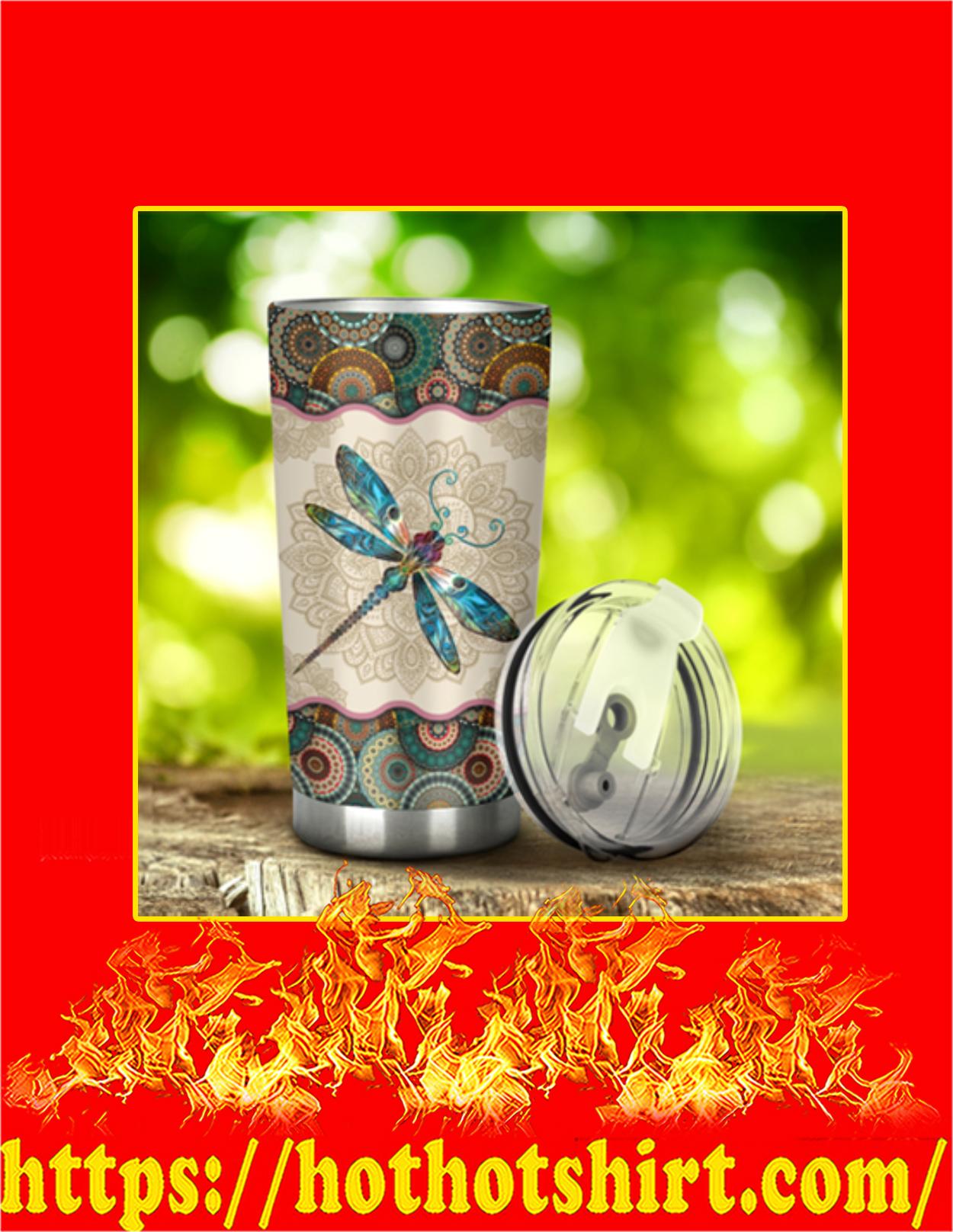 Dragonfly vintage mandala tumbler - Pic 1