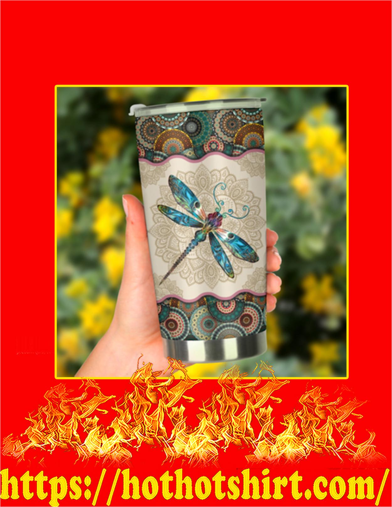 Dragonfly vintage mandala tumbler - Pic 2