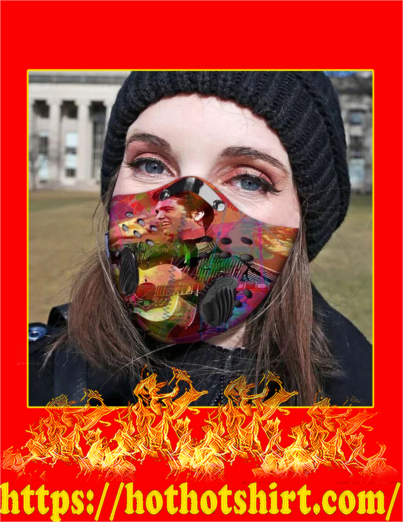 Elvis presley filter face mask