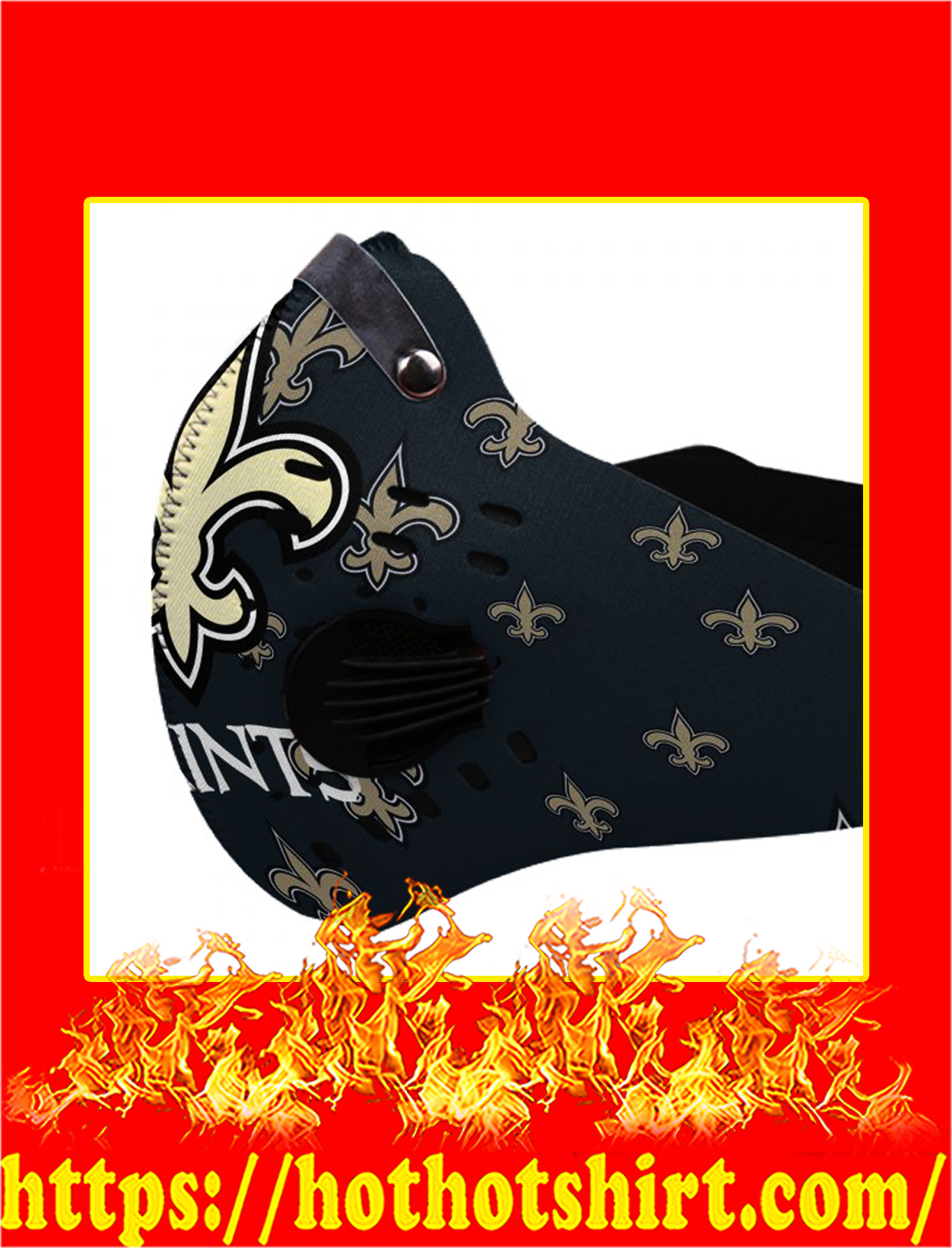 Filter Face Mask New Orleans Saints- pic 1