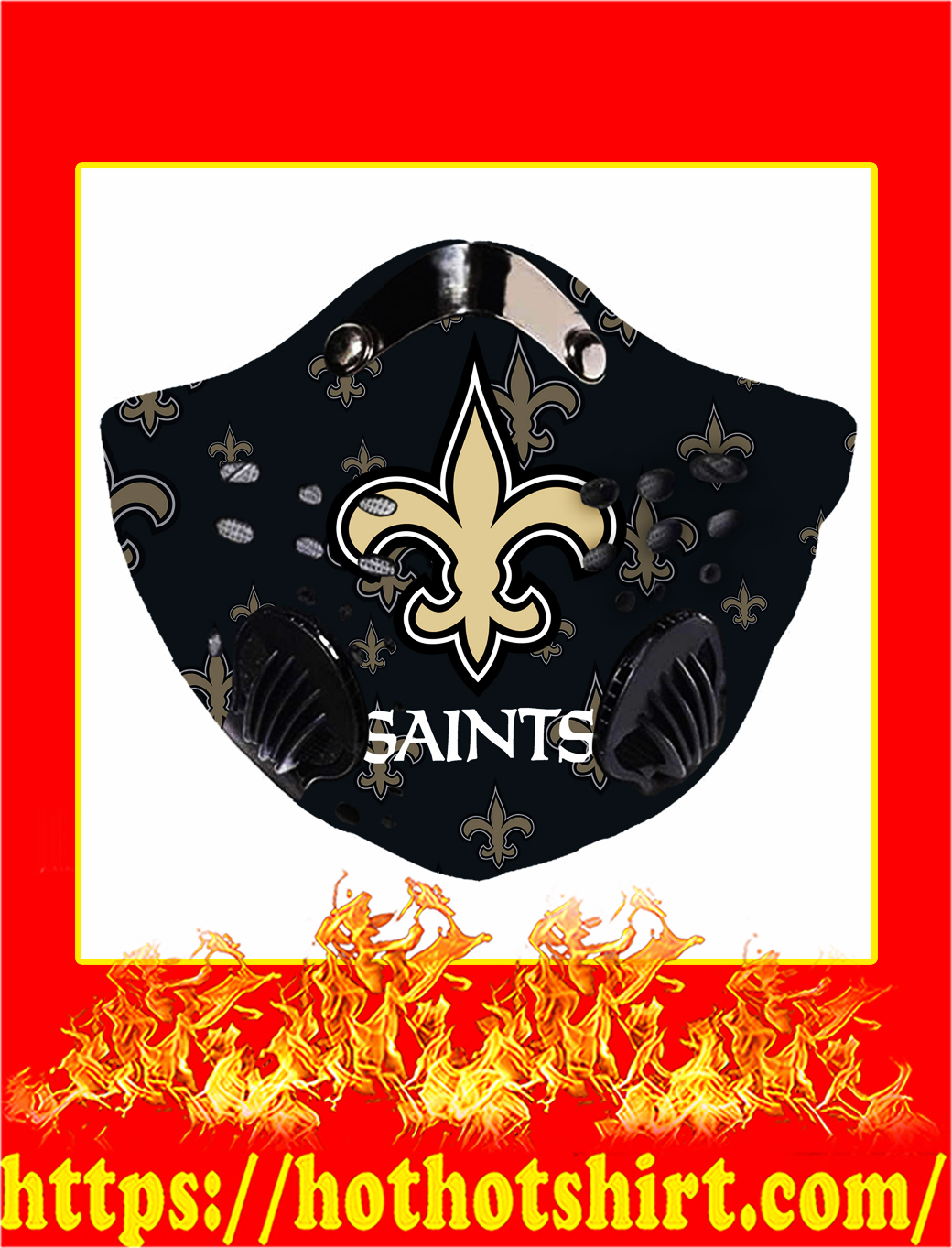 Filter Face Mask New Orleans Saints