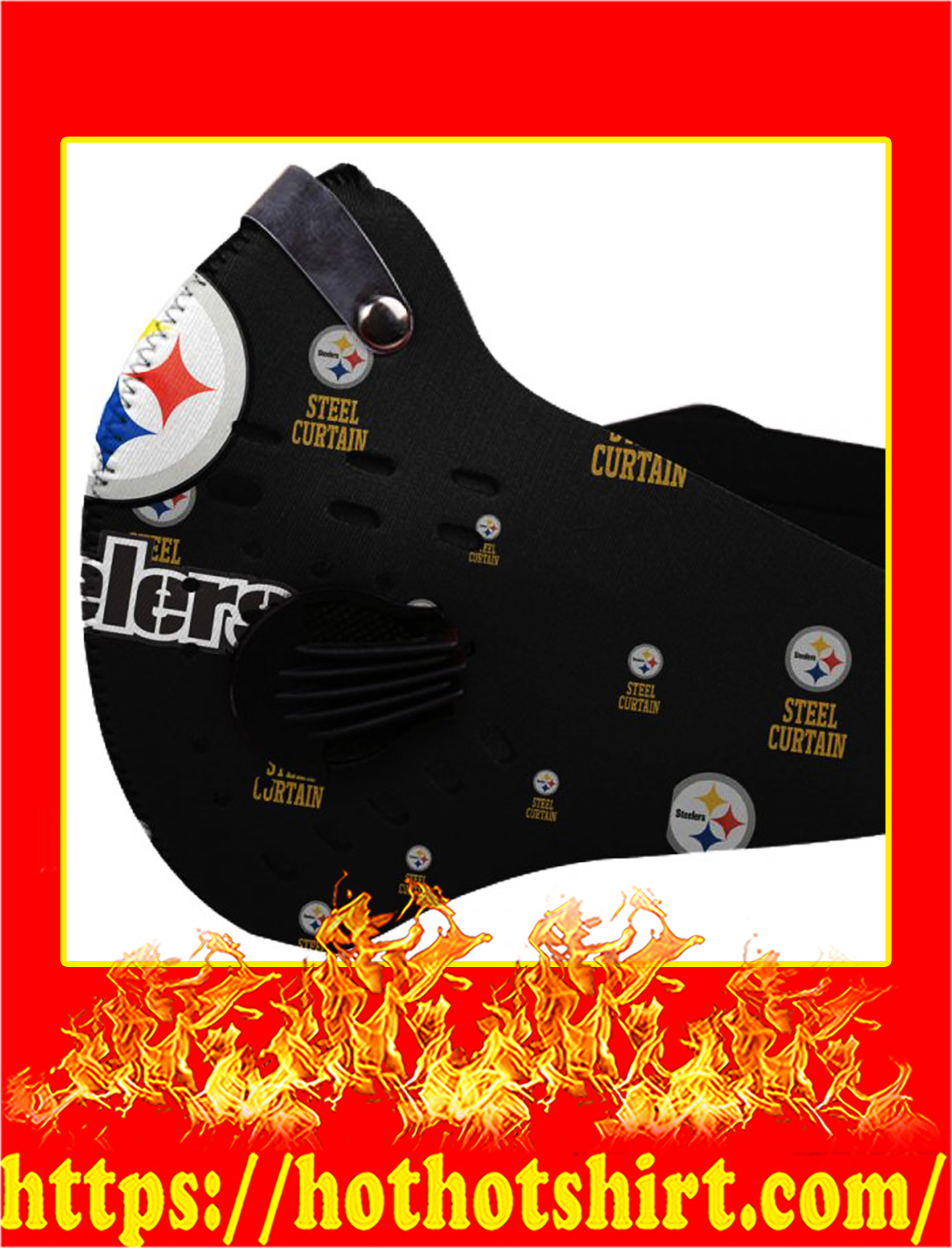 Filter Face Mask Pittsburgh Steelers- pic 1