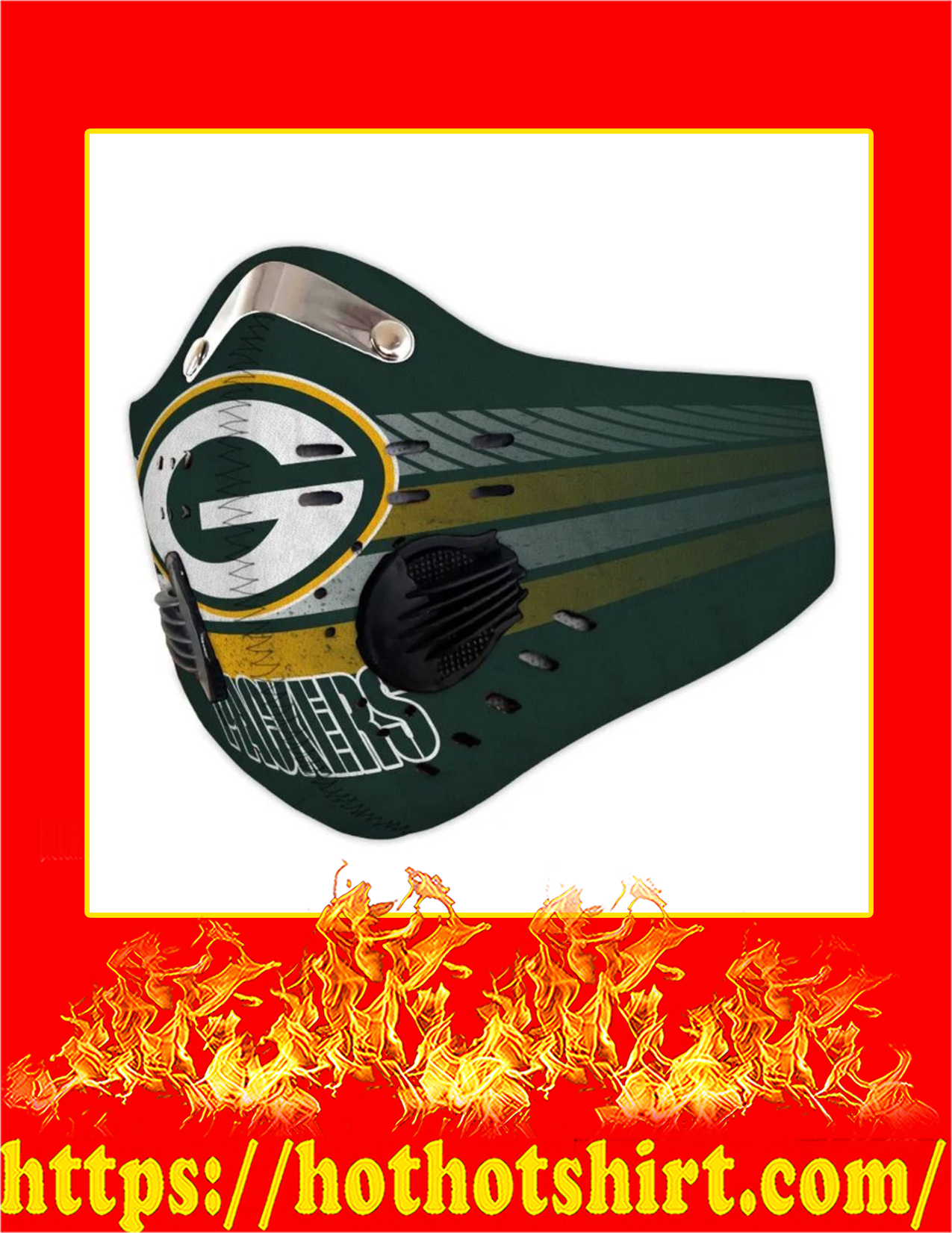 Green bay packers filter face mask - Pic 1